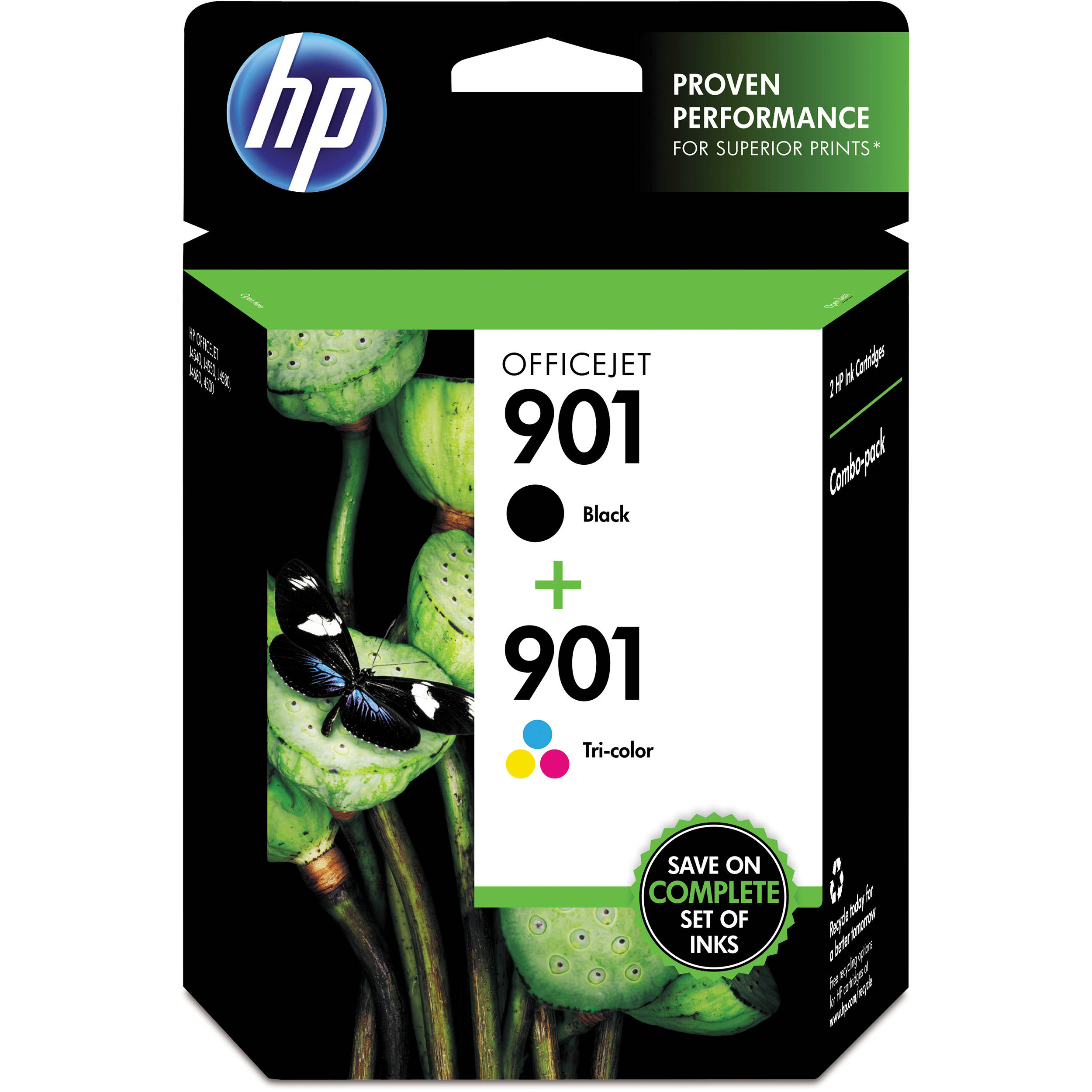 hp 901 ink cartridge combo pack cn069fn b h photo video. Black Bedroom Furniture Sets. Home Design Ideas