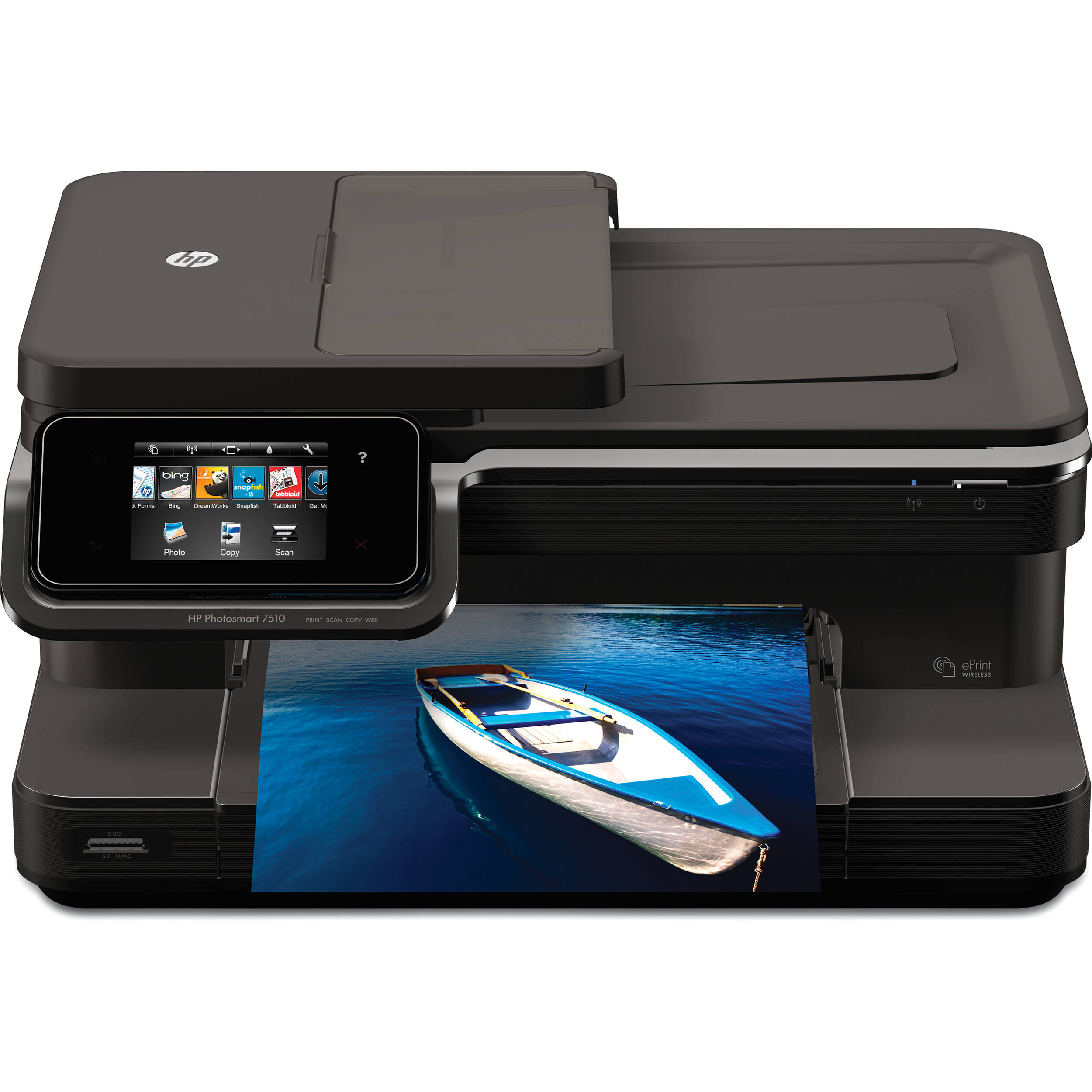 hp photosmart 7510 e all in one color inkjet printer cq877a b1h. Black Bedroom Furniture Sets. Home Design Ideas