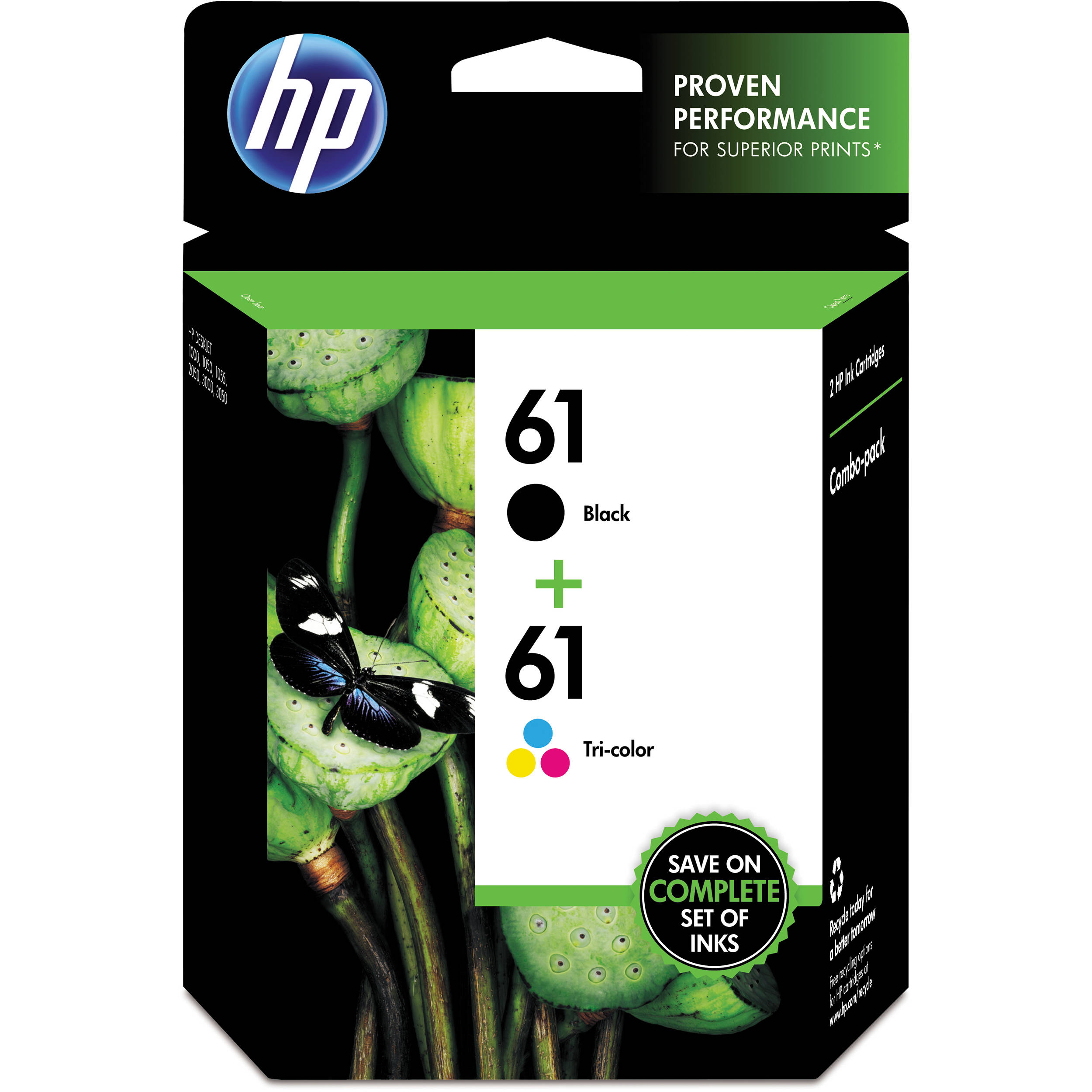 Hp 61 Ink Cartridge Combo Pack