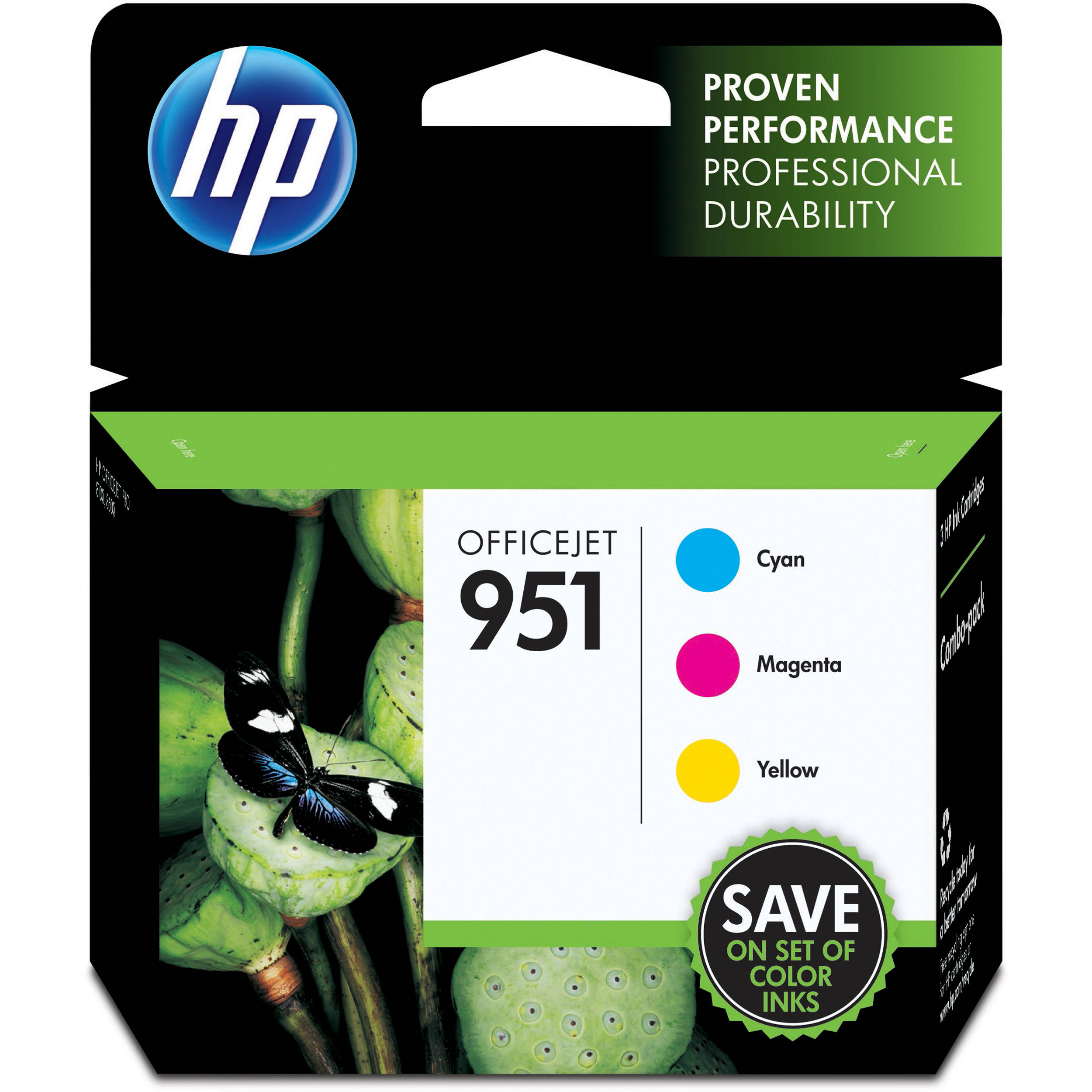 HP 951 Cyan Magenta And Yellow Ink Cartridge Combo Pack