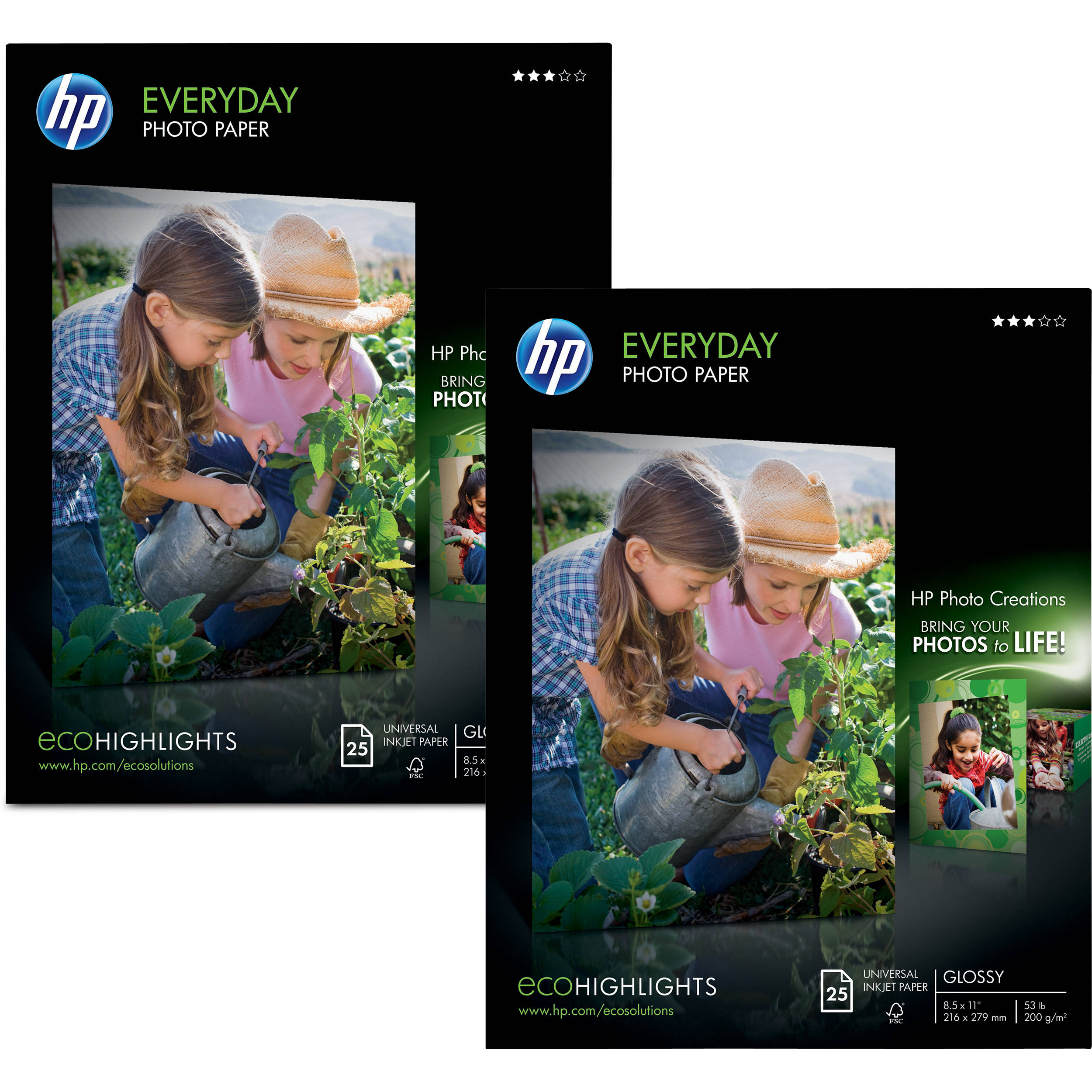Hp Everyday Photo Paper Semi Gloss For Inkjet 85x11