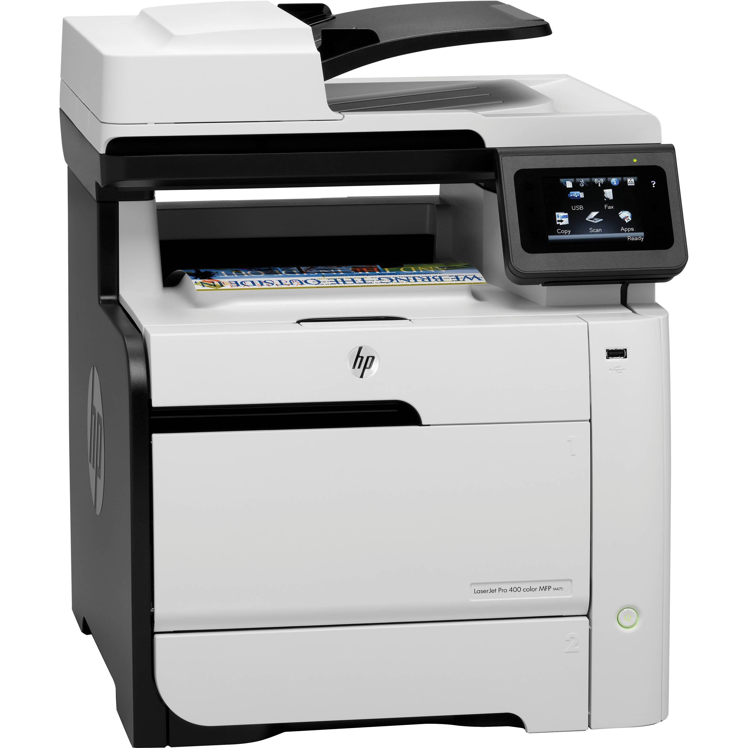 HP LaserJet Pro 400 M475dw Wireless Color All-in-One CE864A B&H