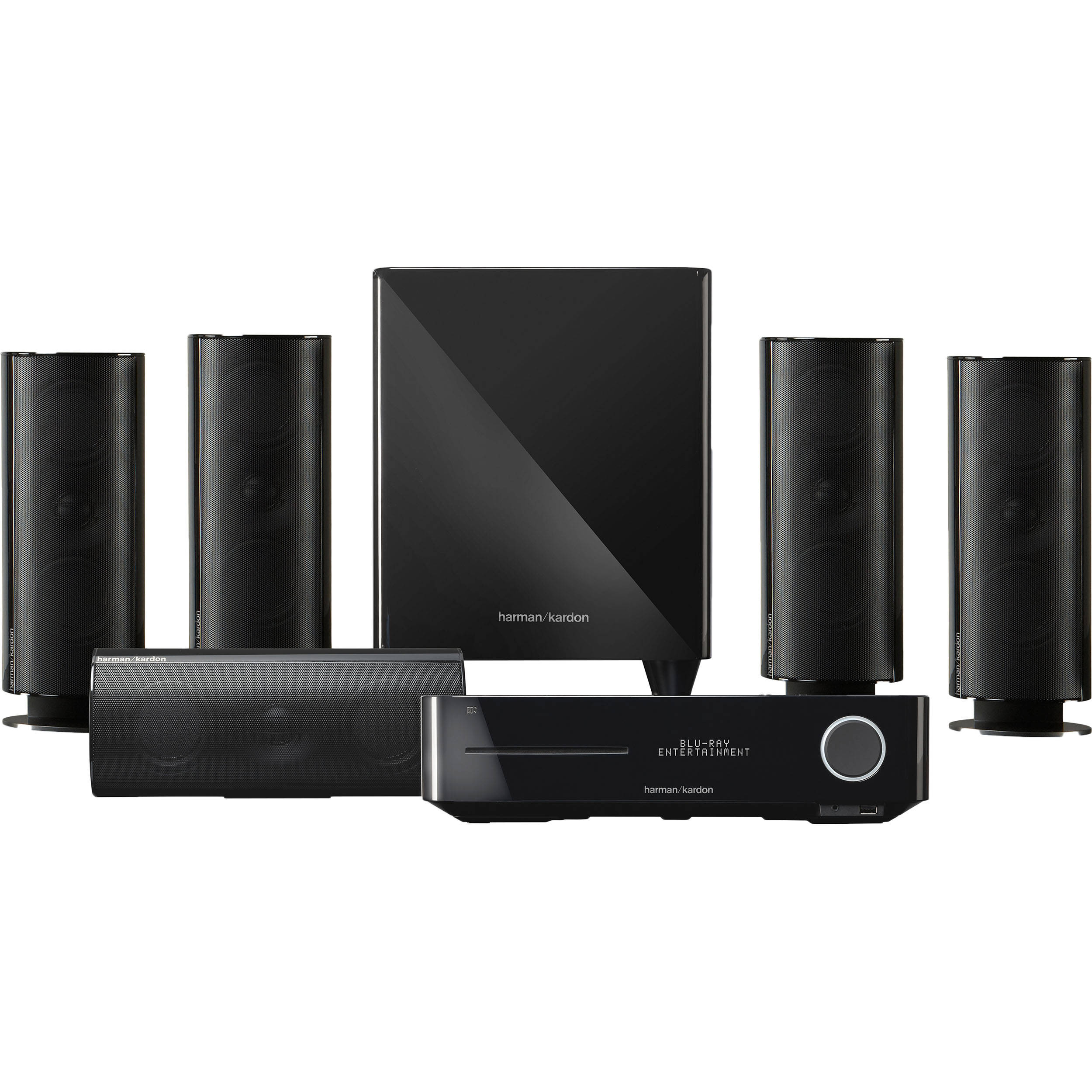 harman kardon bds 800 5 1 channel home entertainment bds. Black Bedroom Furniture Sets. Home Design Ideas