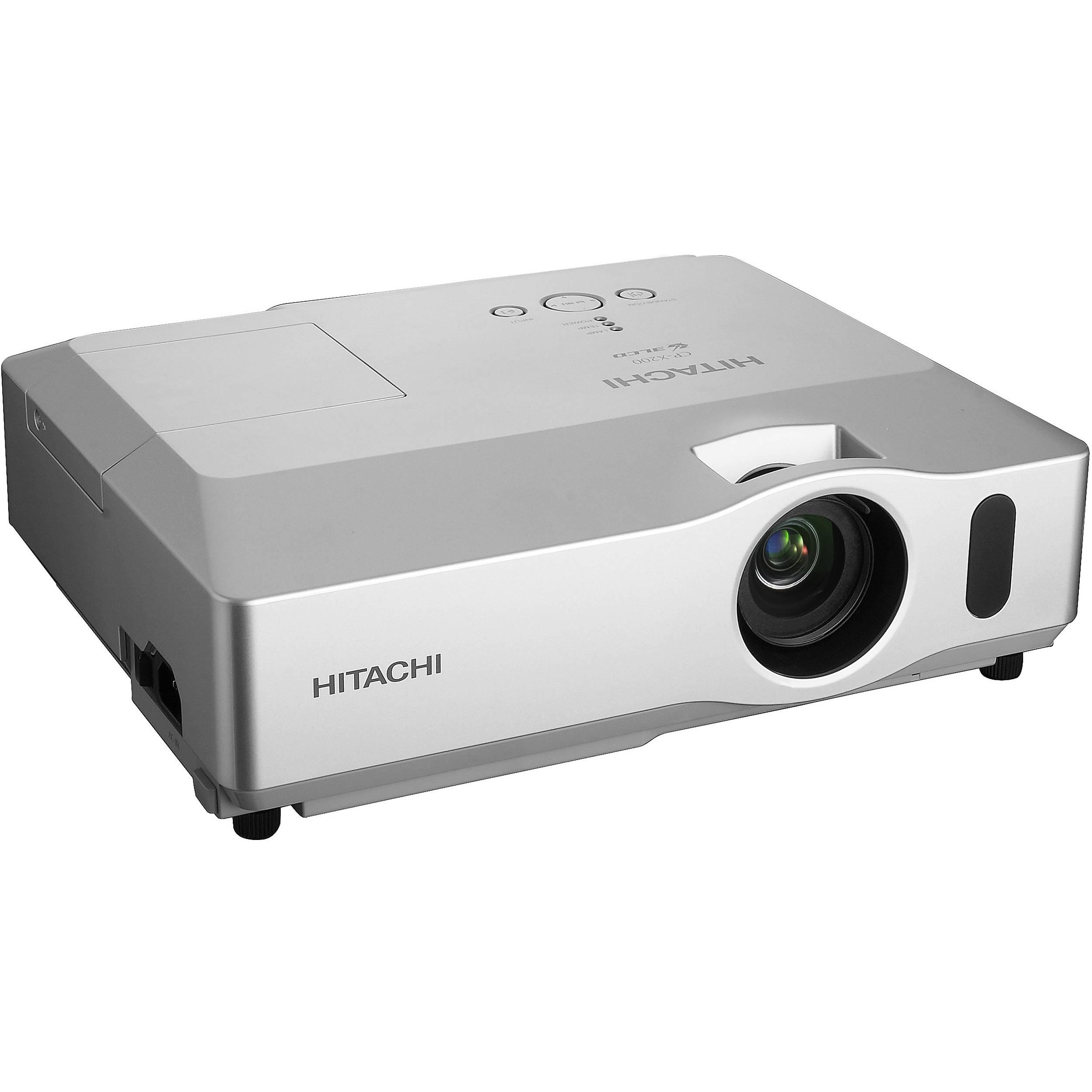 Hitachi cp x201 portable 3lcd projector cp x201 b h photo for Portable lcd projector reviews