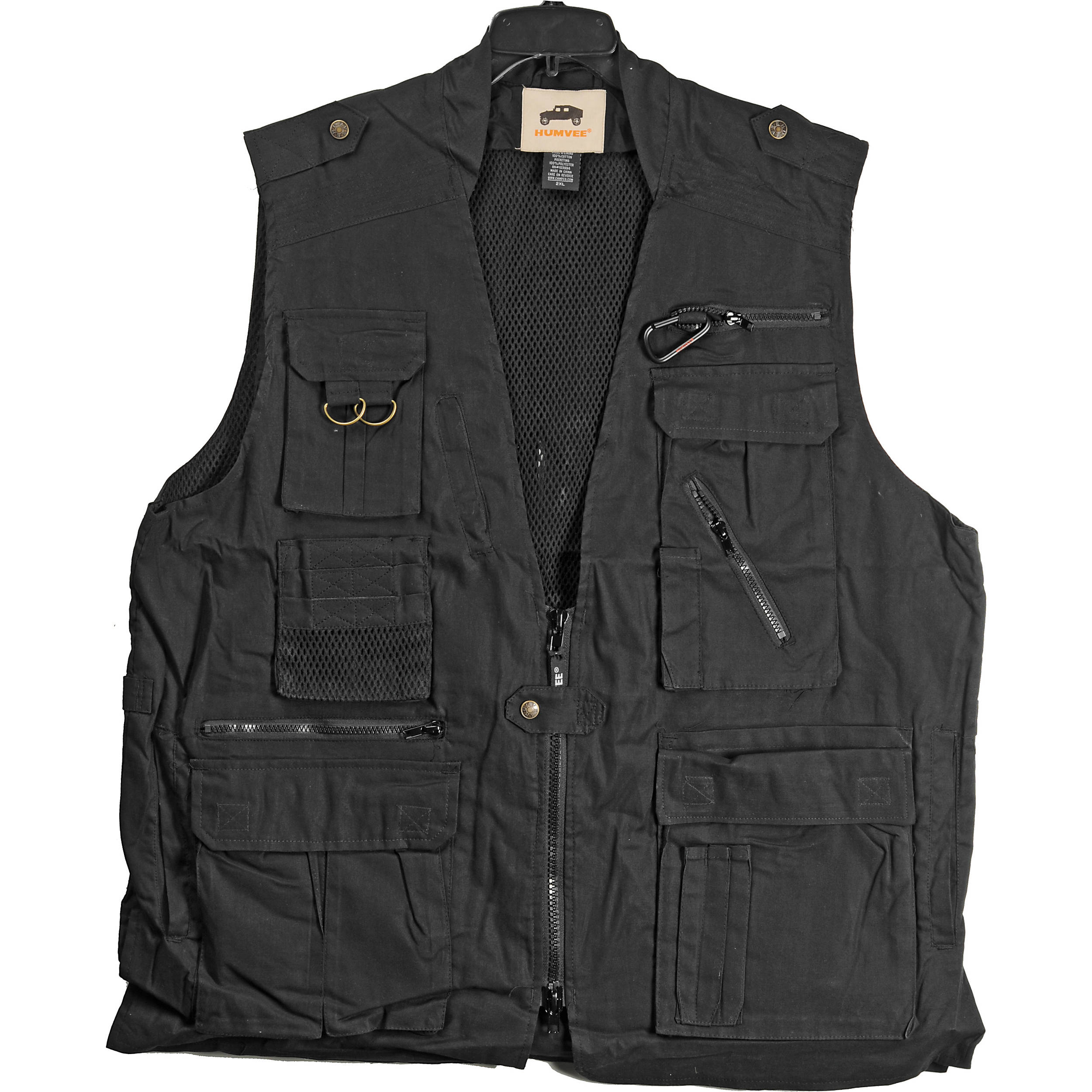Humvee By Campco Safari Photo Vest Large Black Hmv Vs Bk L