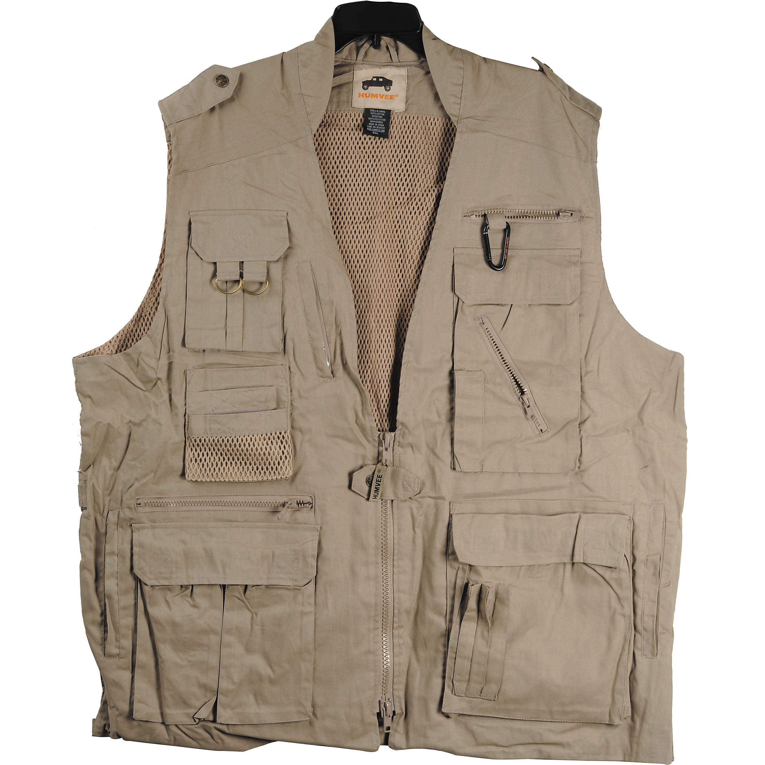 Humvee By Campco Safari Photo Vest Large Khaki Hmv Vs K