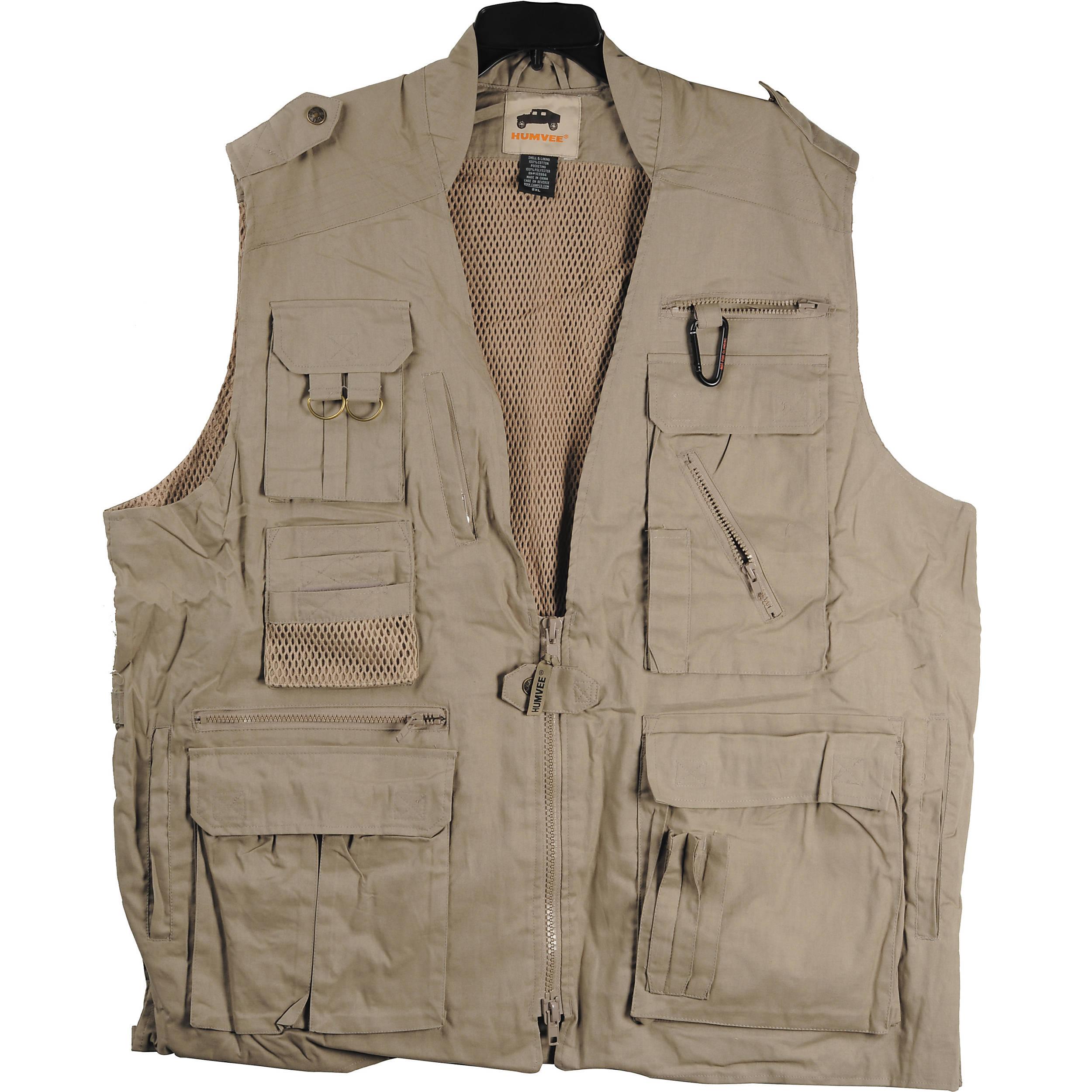 Humvee by campco safari photo vest medium khaki hmv vs k m for Best shirt to wear under ballistic vest