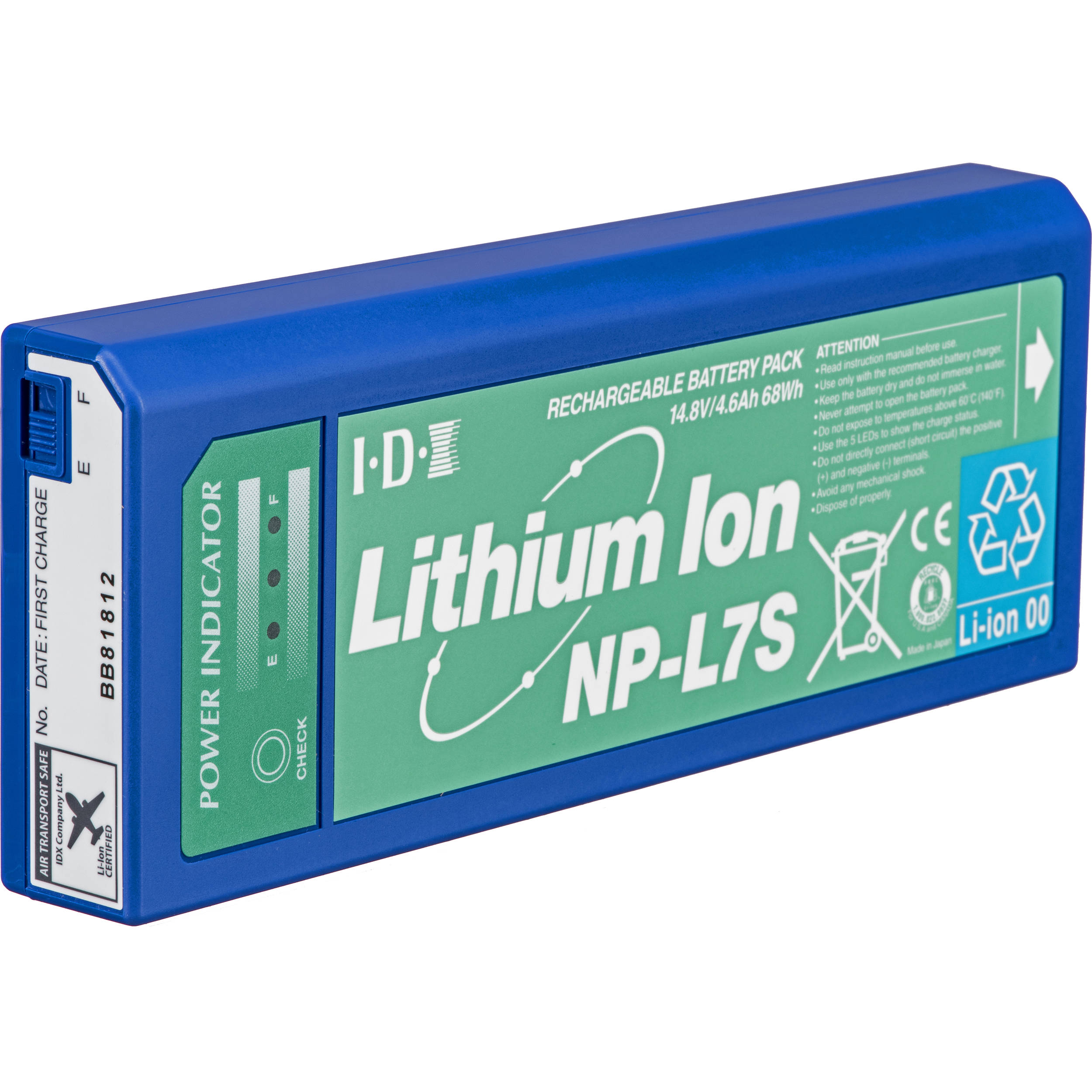 Lithium Ion Battery >> Idx System Technology Np L7s Np Style Lithium Ion Battery Np L7s