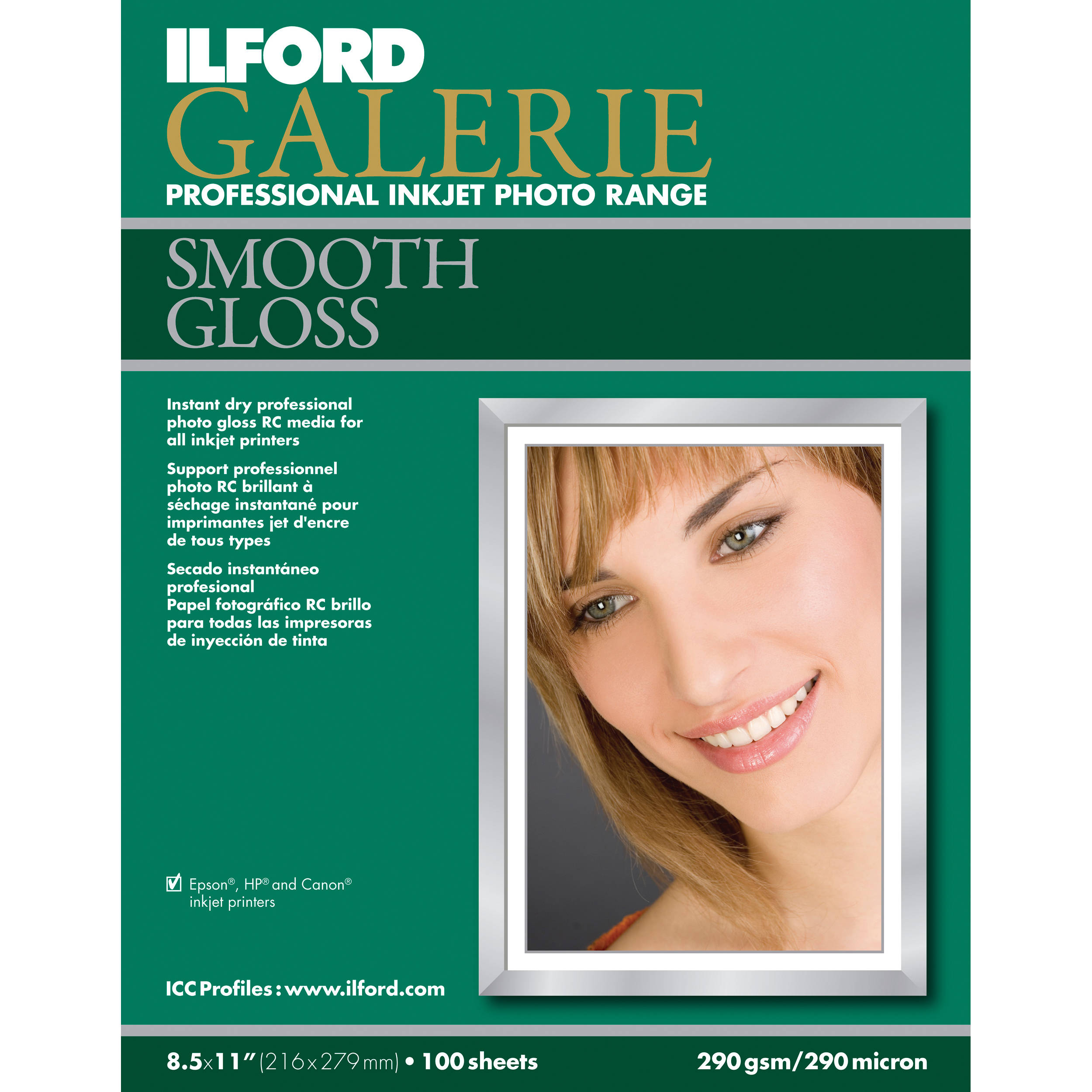 Ilford Galerie Smooth Gloss Paper For Inkjet 1120833 Bh Photo