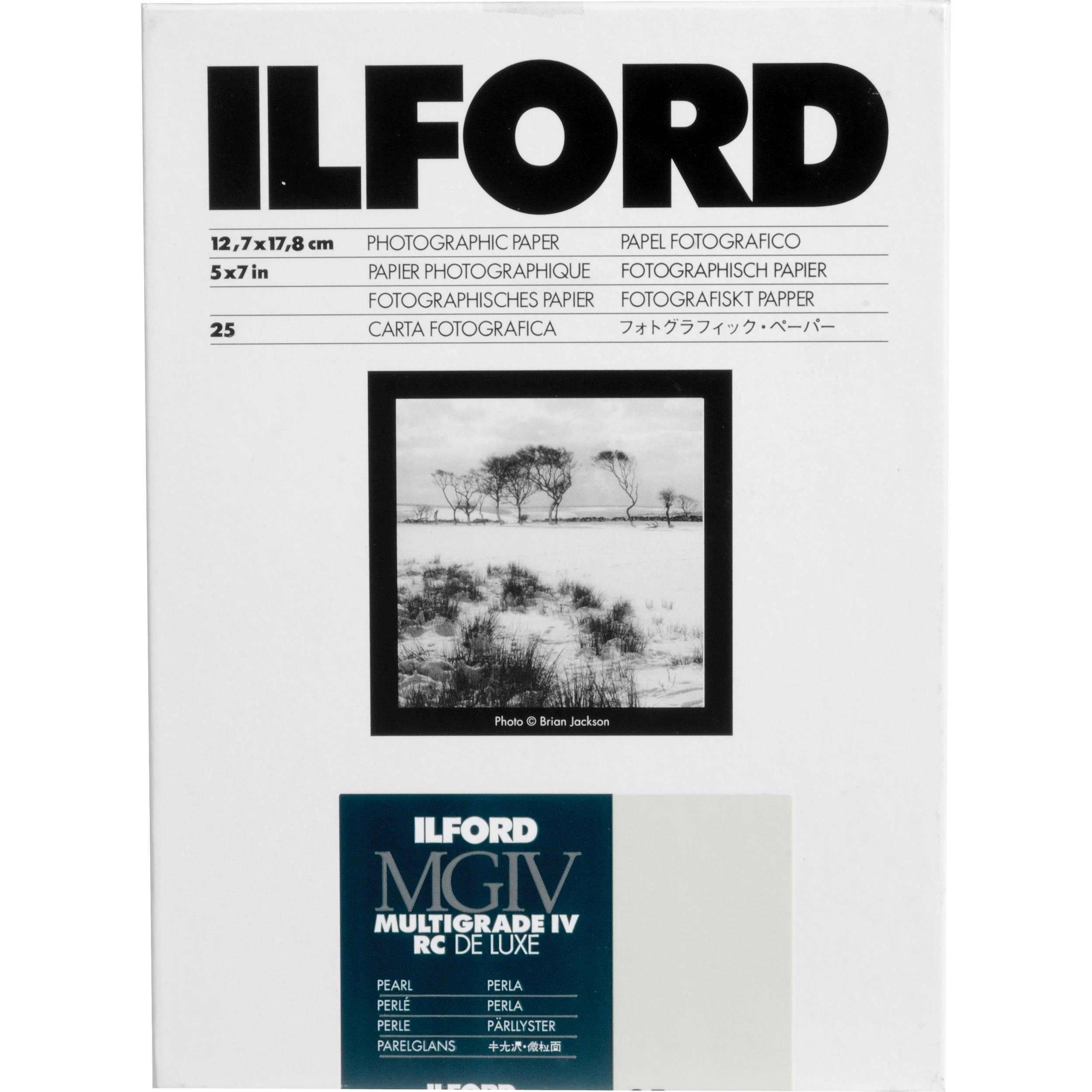 Ilford MGFB1K Fiber Based B & W Paper - amazon.com
