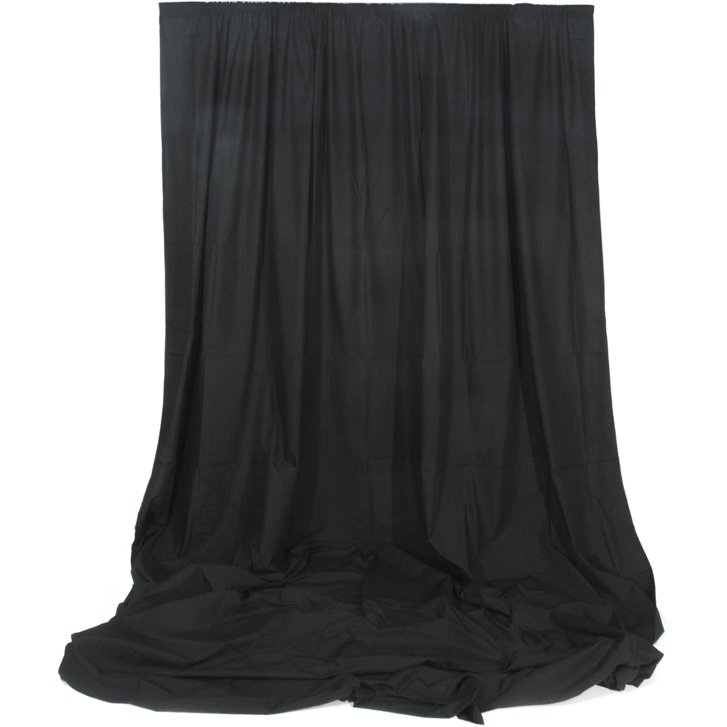Cheap black stage curtains - Impact Muslin Background 10 X 12 Black