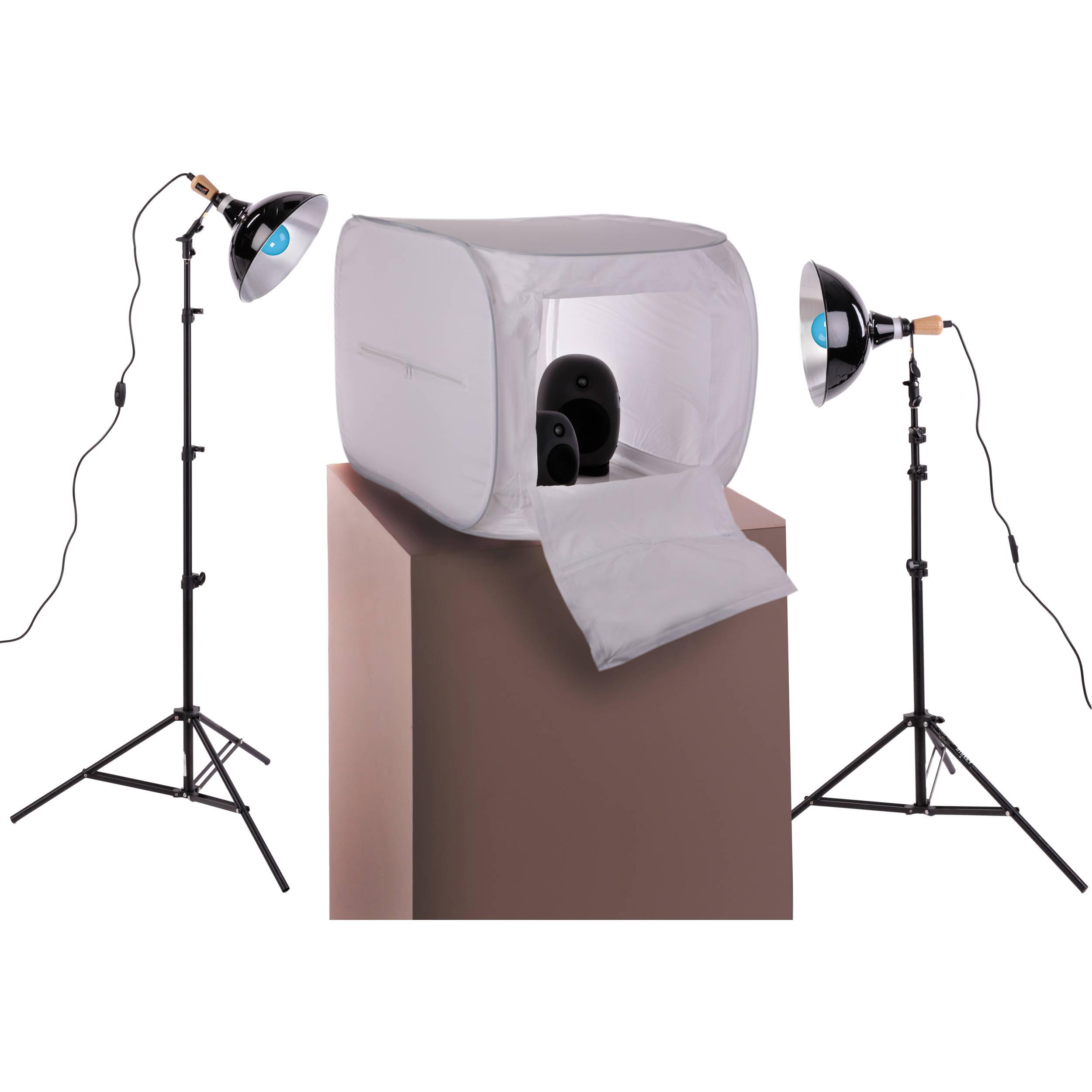 Impact Two-Light Digital Light Shed Kit - 24 x 24   sc 1 st  Bu0026H & Shooting Tents u0026 Table Light Kits | Bu0026H Photo Video