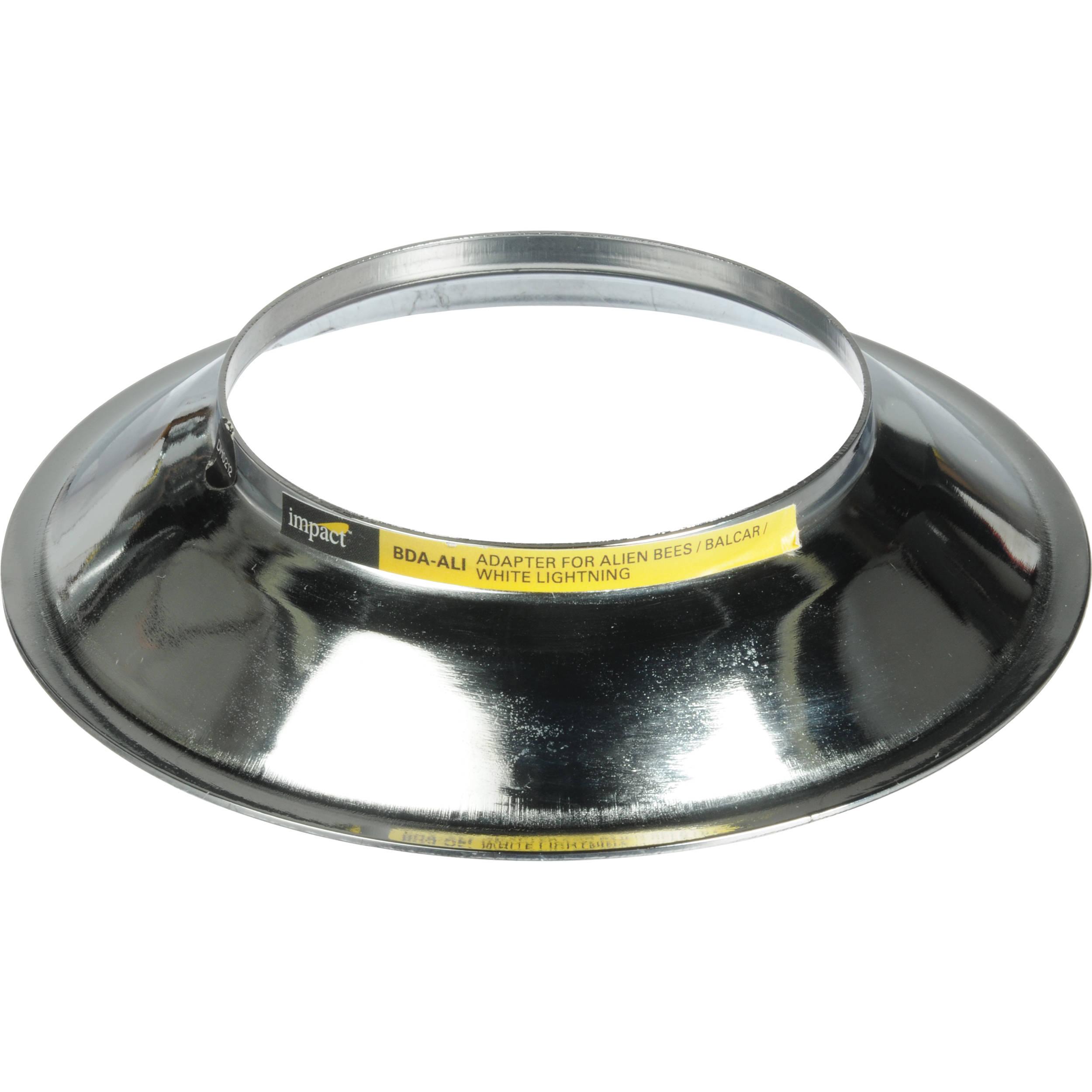 Impact Beauty Dish Adapter For Paul C. Buff Alien Bee, Einstein, White  Lightening
