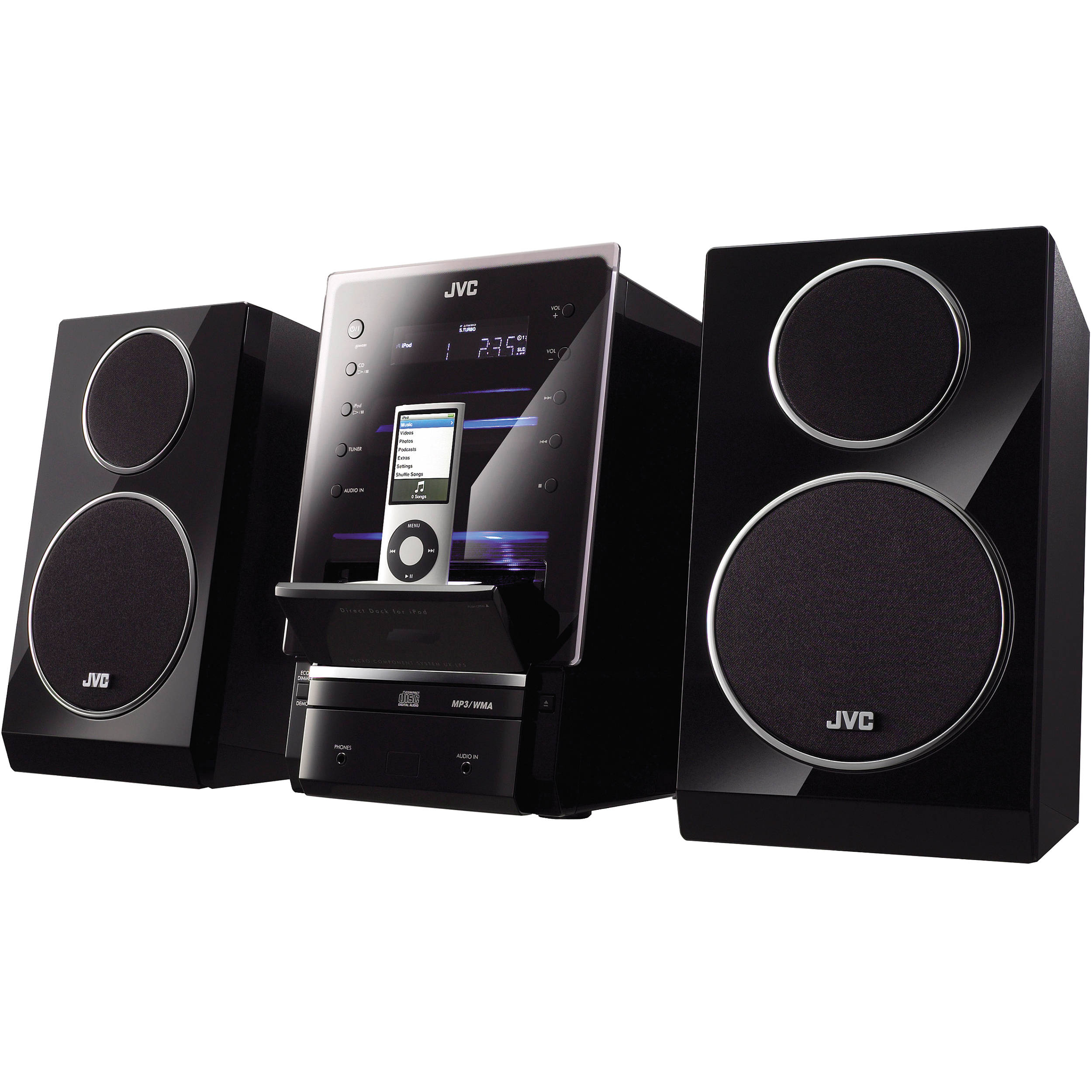 JVC UX-LP5 CD Micro Component System. iPod, iPad, or iPhone not included
