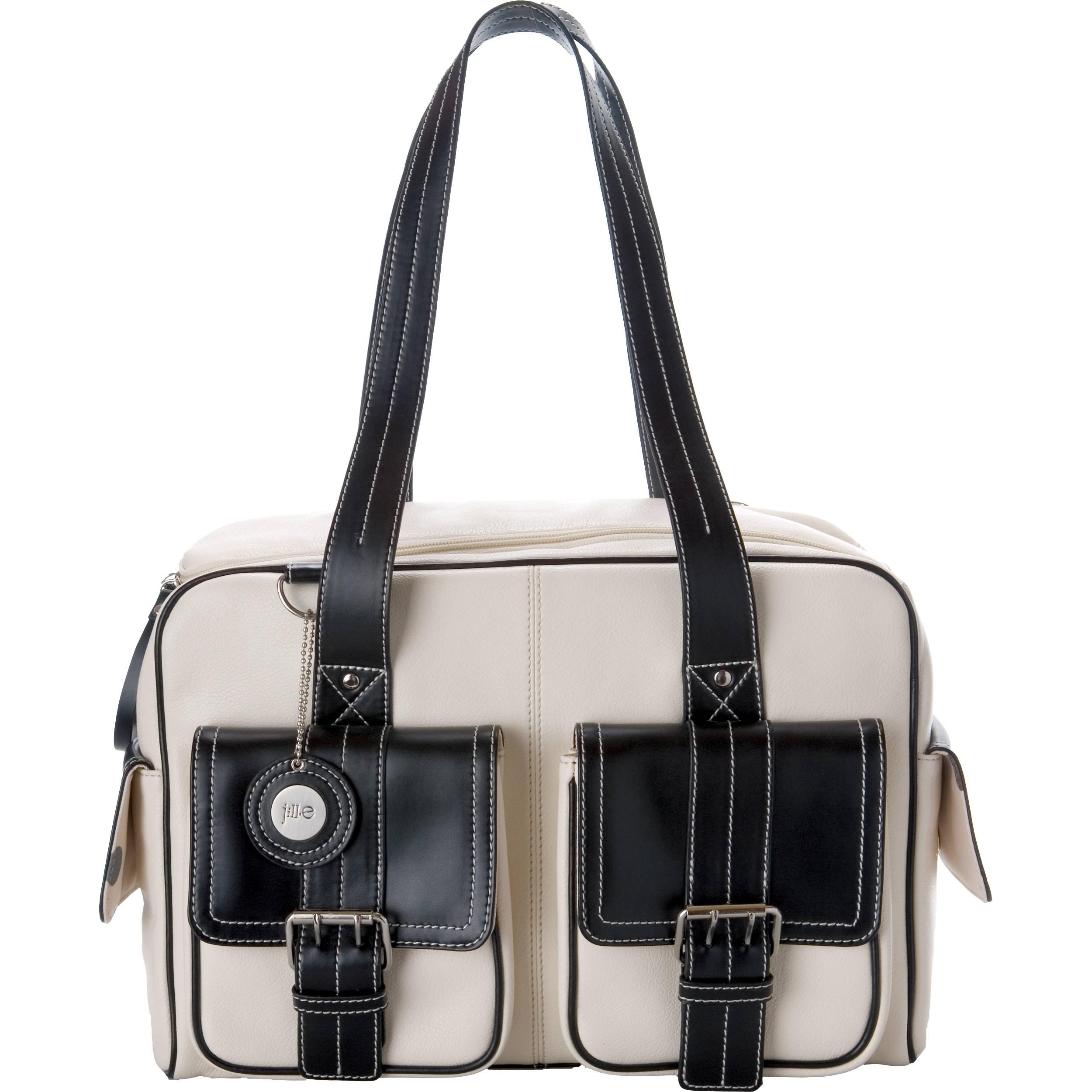 Jill E Designs Medium Camera Bag Bone With Black Trim