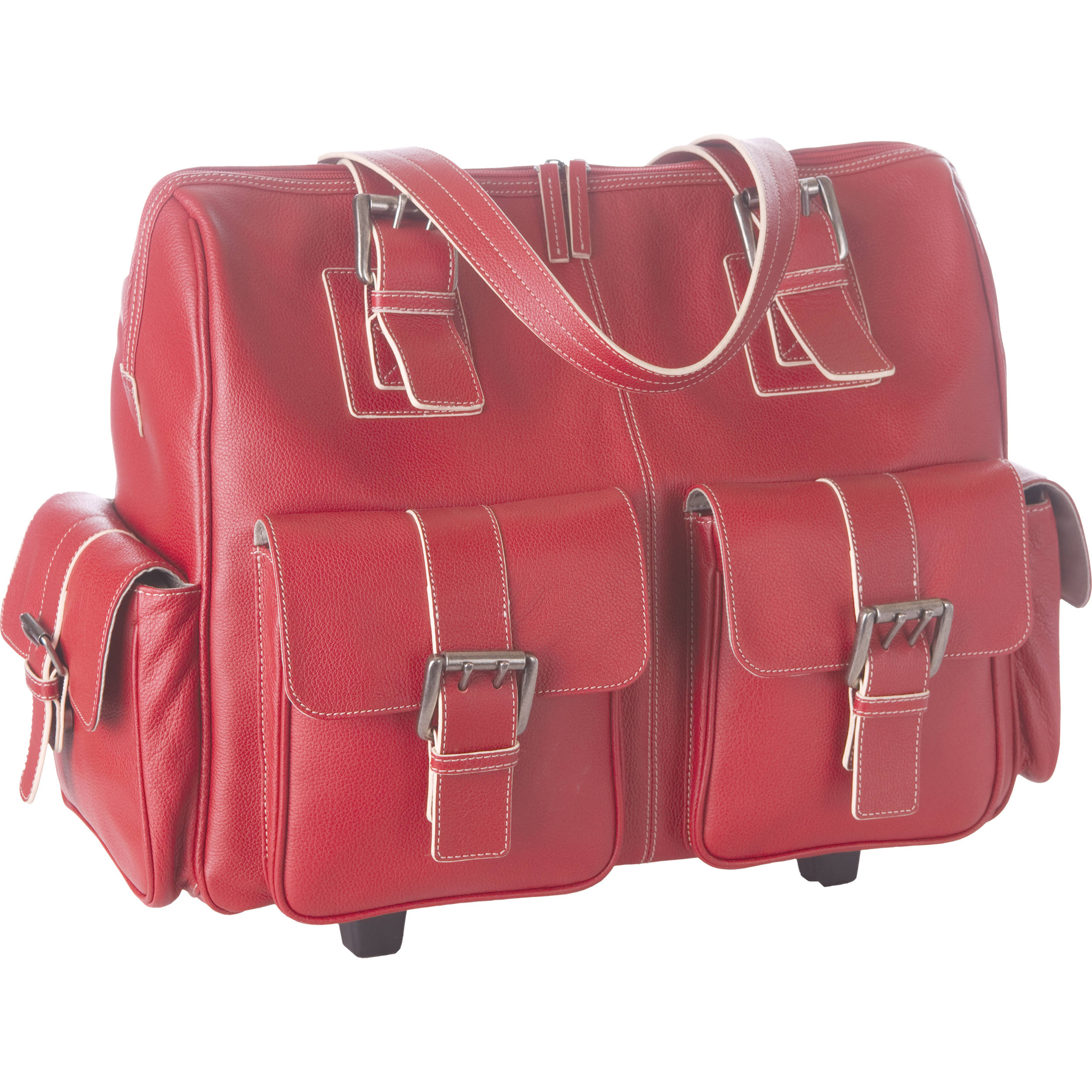 Jill E Designs Large Rolling Camera Bag Red