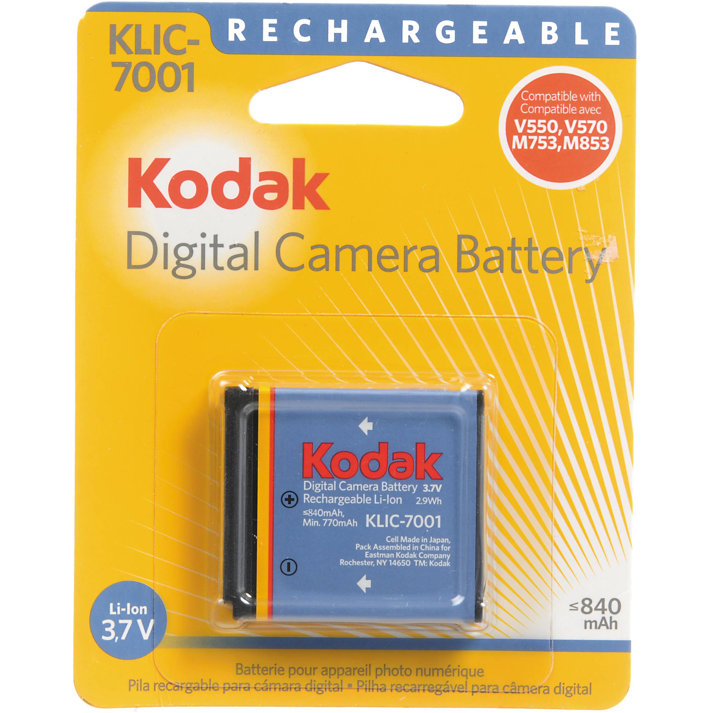 Kodak Klic 7001 Lithium Ion Battery 3 7v 840mah 1979657 B Amp H