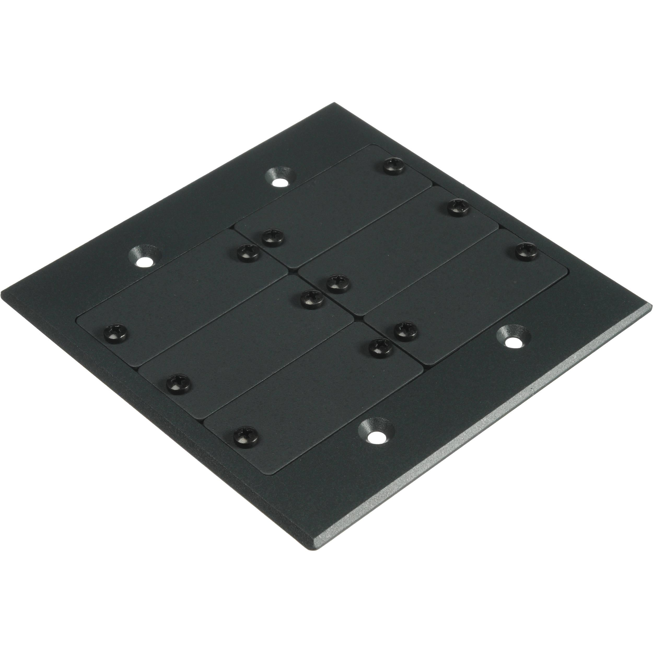 Kramer Two-Gang Frame for Wall Plate Inserts (Black) FRAME-2G(B)