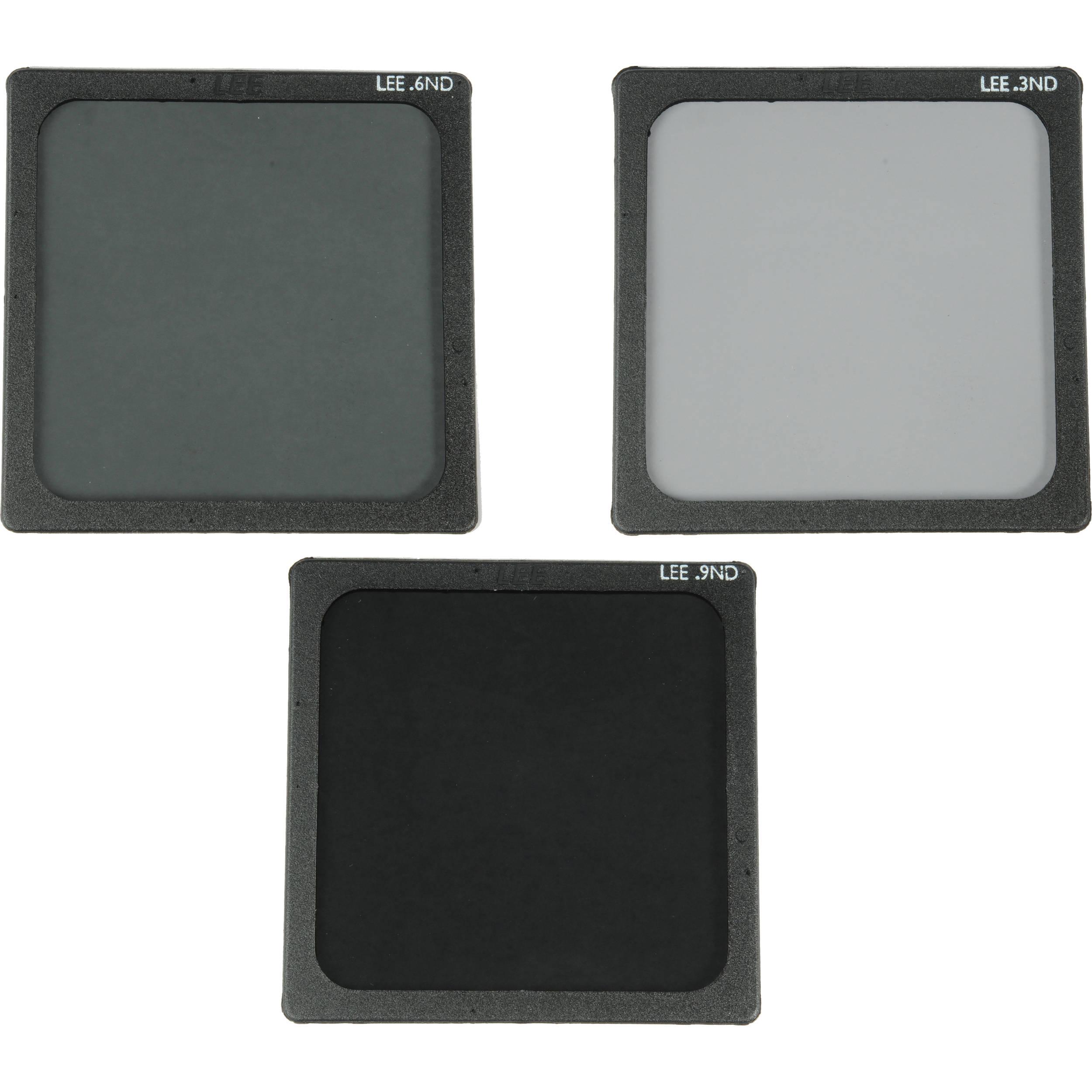 "LEE Filters 4x4"" Neutral Density Polyester Filter Set (0.3, 0.6, ..."
