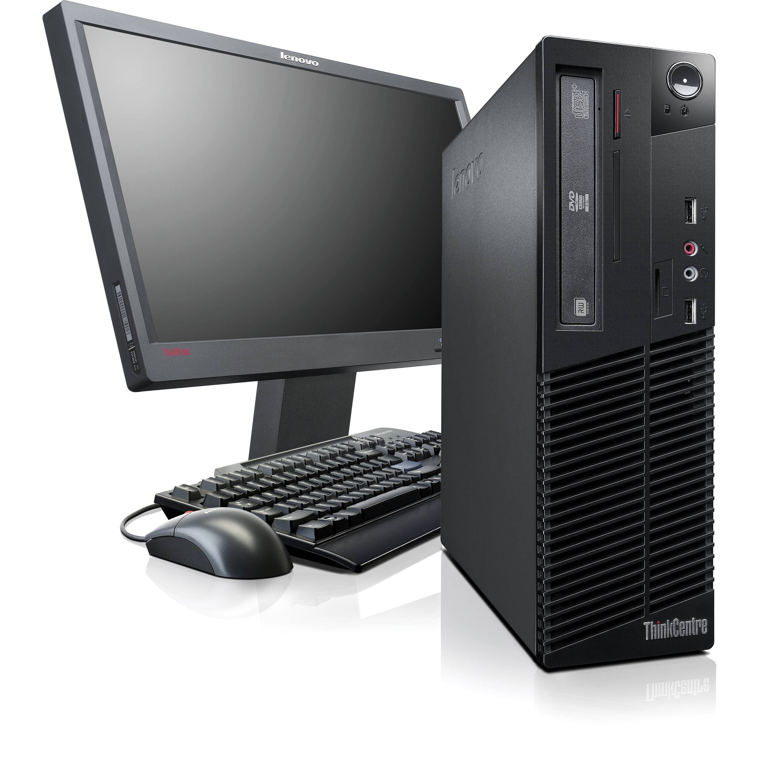 Lenovo Thinkcentre M70e Small Desktop Computer Black Monitor Not Included