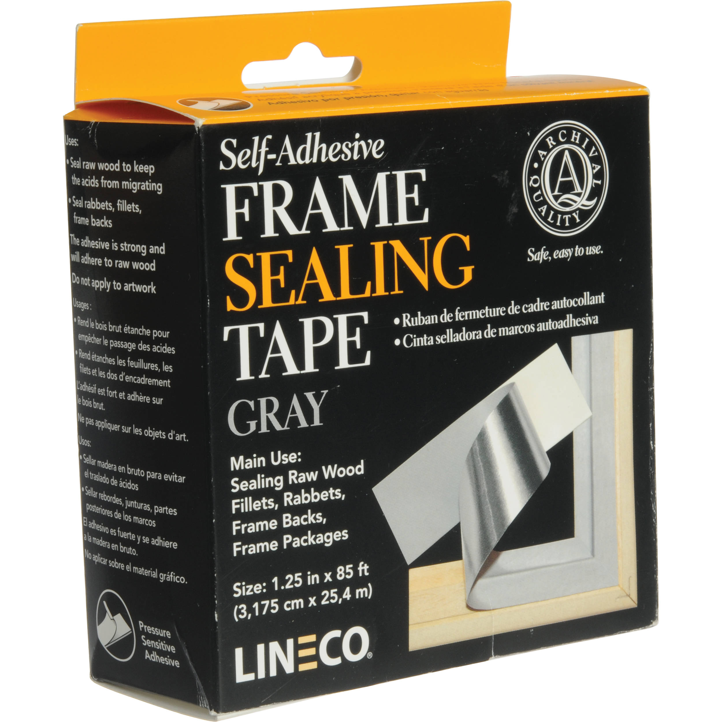 Picture framing accessories bh photo video lineco frame sealing tape pressure sensitive gray jeuxipadfo Image collections