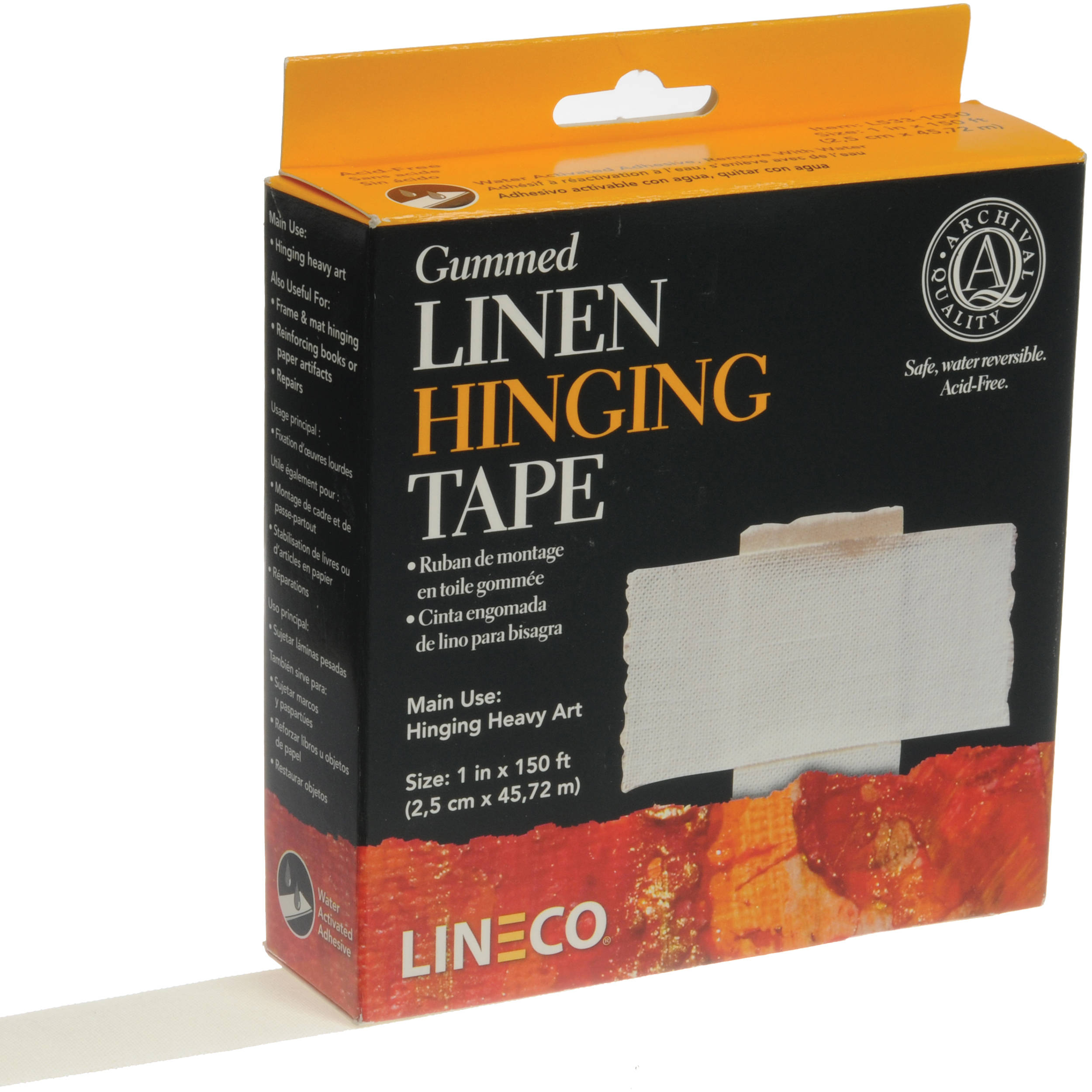 Lineco Gummed Linen Hinging Tape 1 Quot X 150 L533 1050 B Amp H