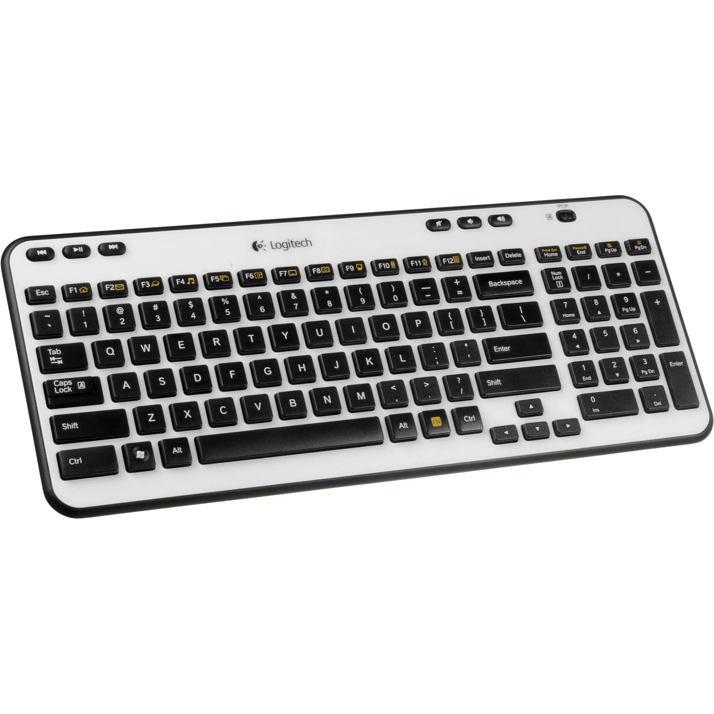 Logitech K360 Wireless Keyboard (Ivory) 920-003365 B&H Photo