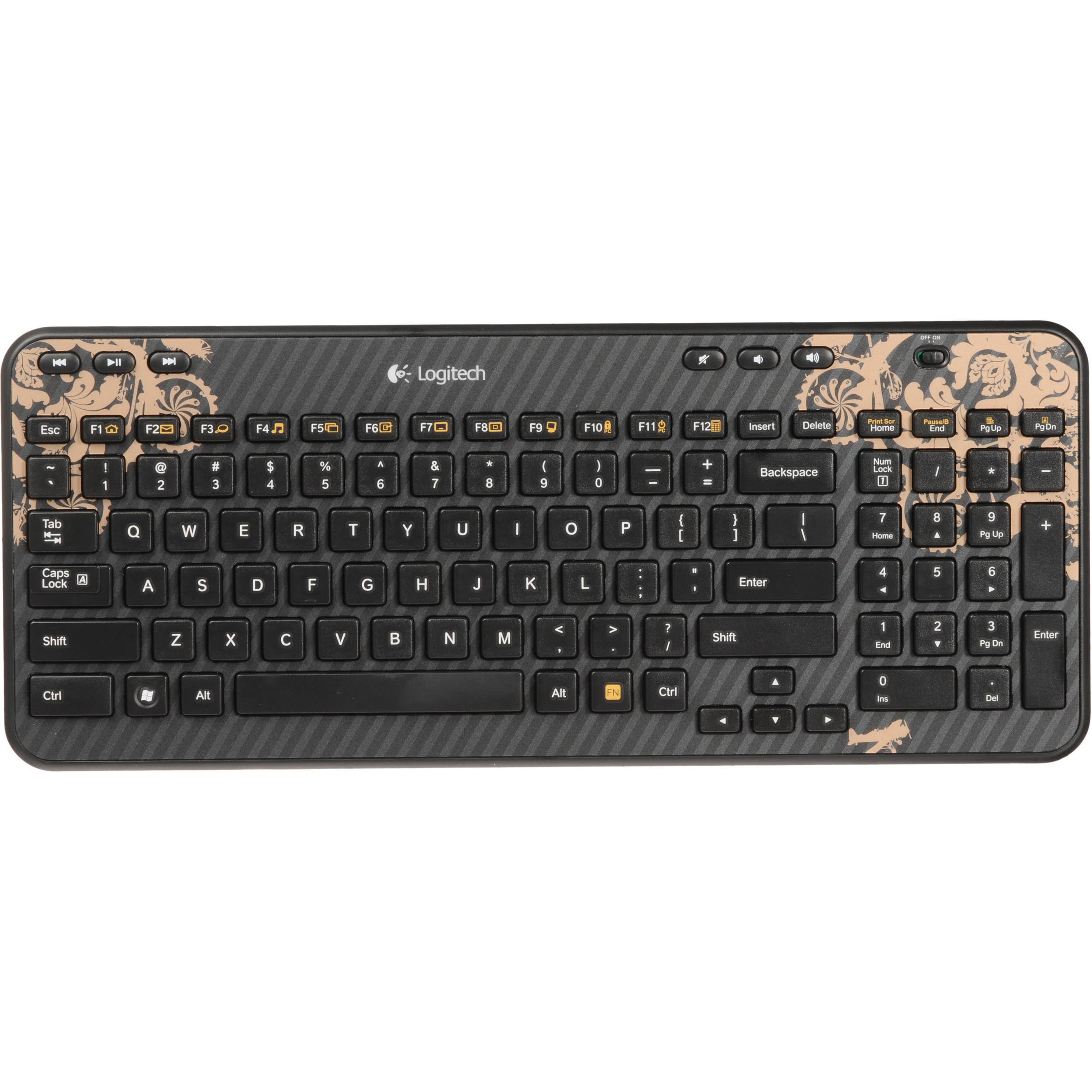 Logitech K360 Wireless Keyboard (Victorian Wallpaper) 920 ...