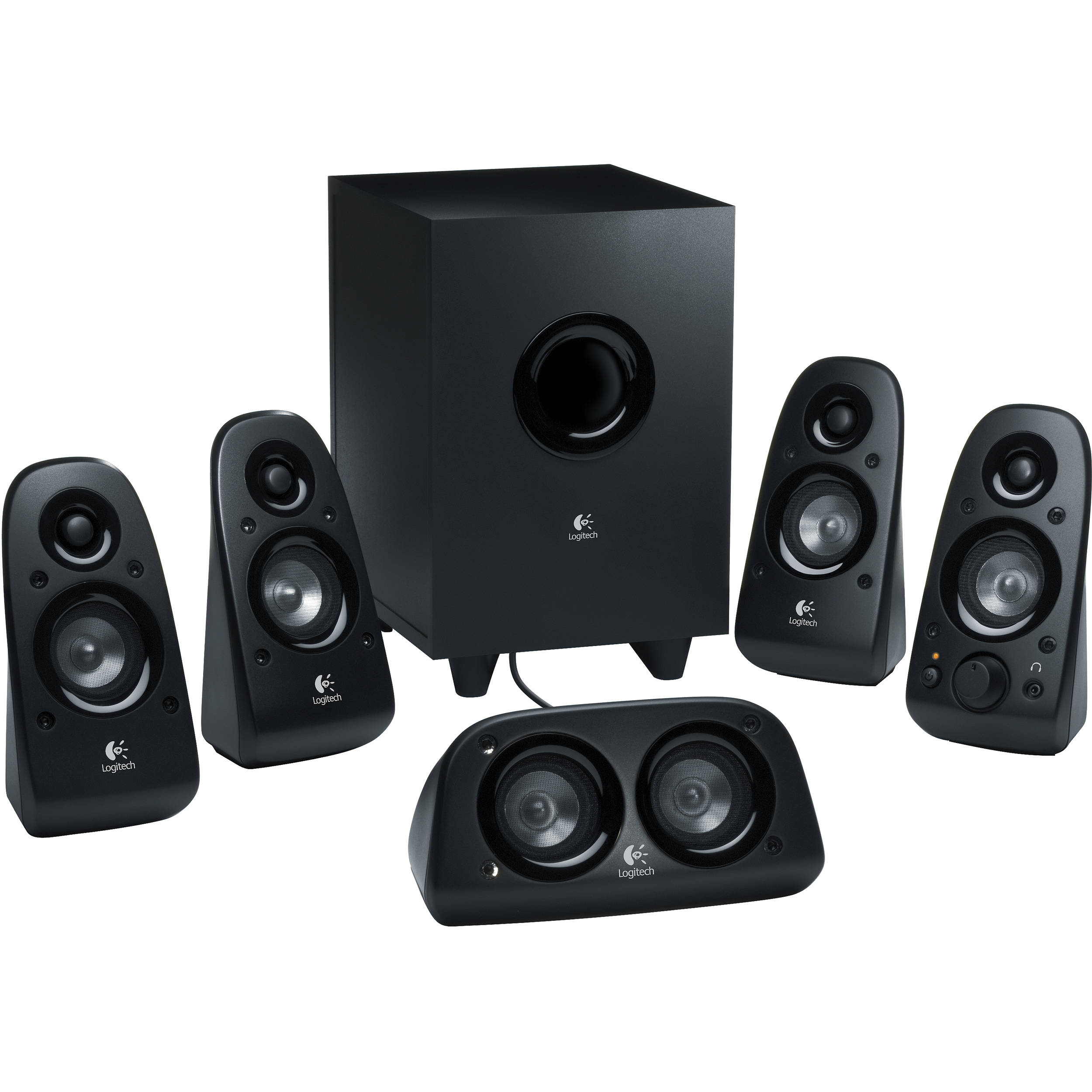 c09b1269d58 Logitech Z506 5.1 Channel Surround Sound Speakers and 980-000430