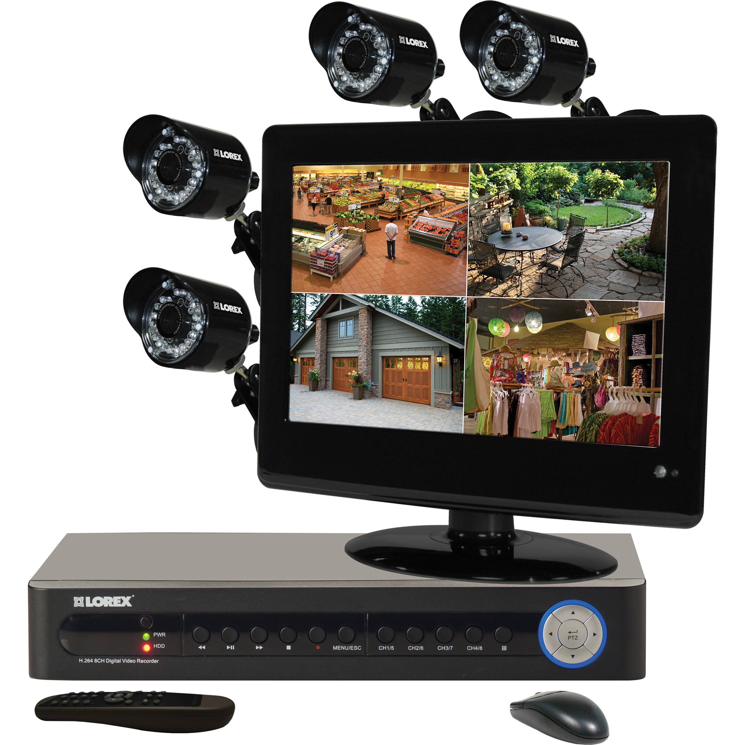 Lorex by FLIR Security Camera System with 4 Cameras / LH1845L13B