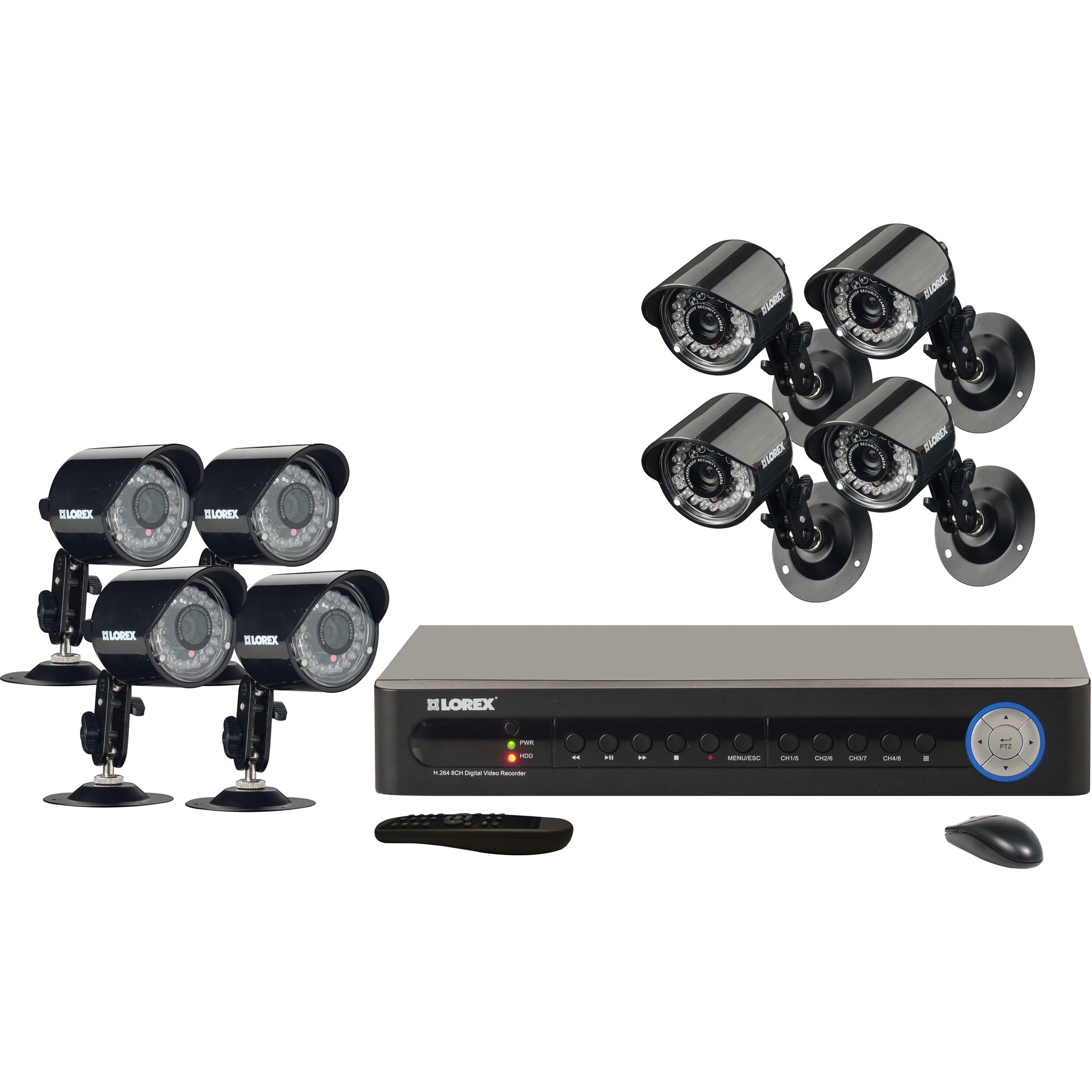 Lorex By Flir Lh185 Security Camera System Lh185 B Amp H Photo
