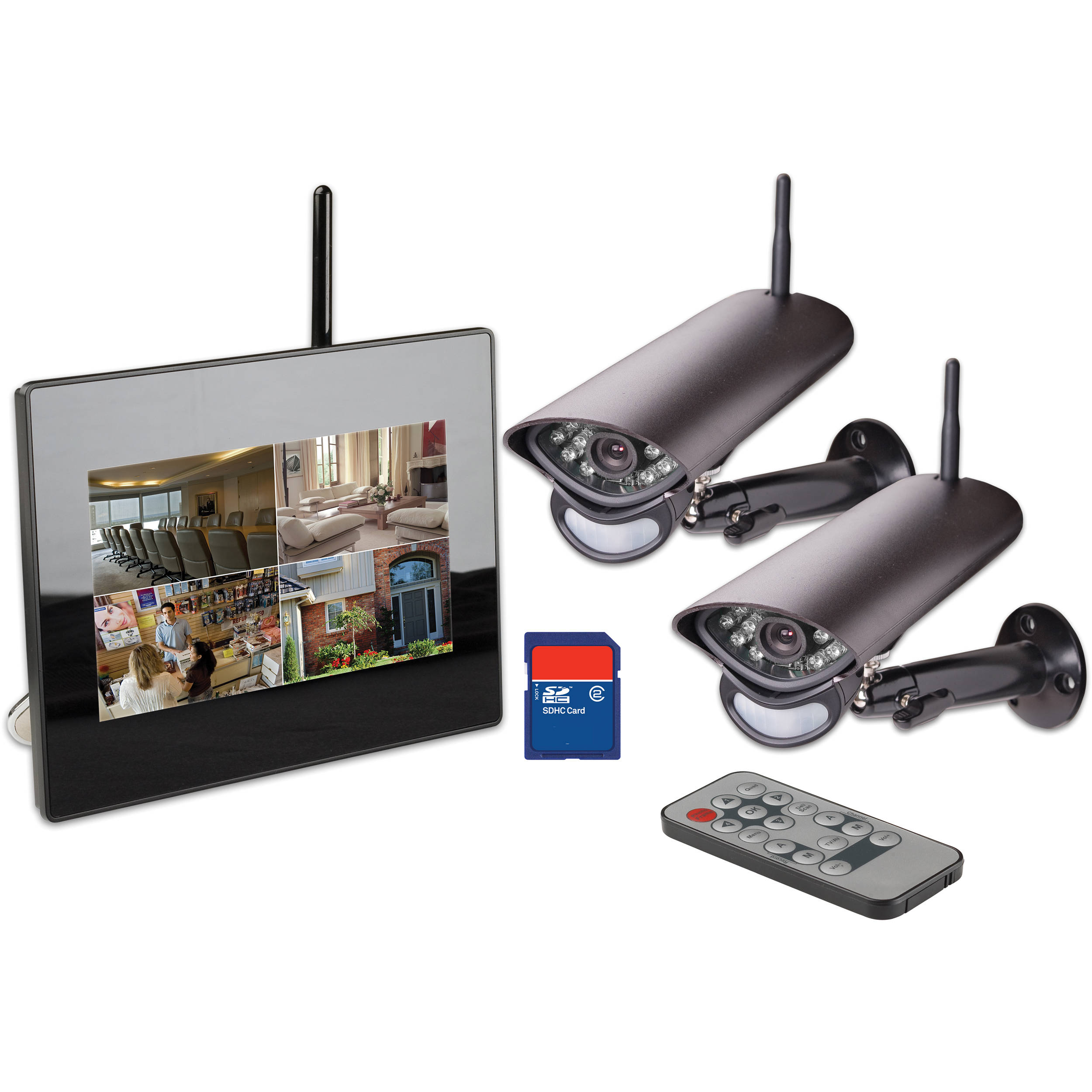 Lorex Digital Wireless LCD Surveillance System LW2702 B&H ...