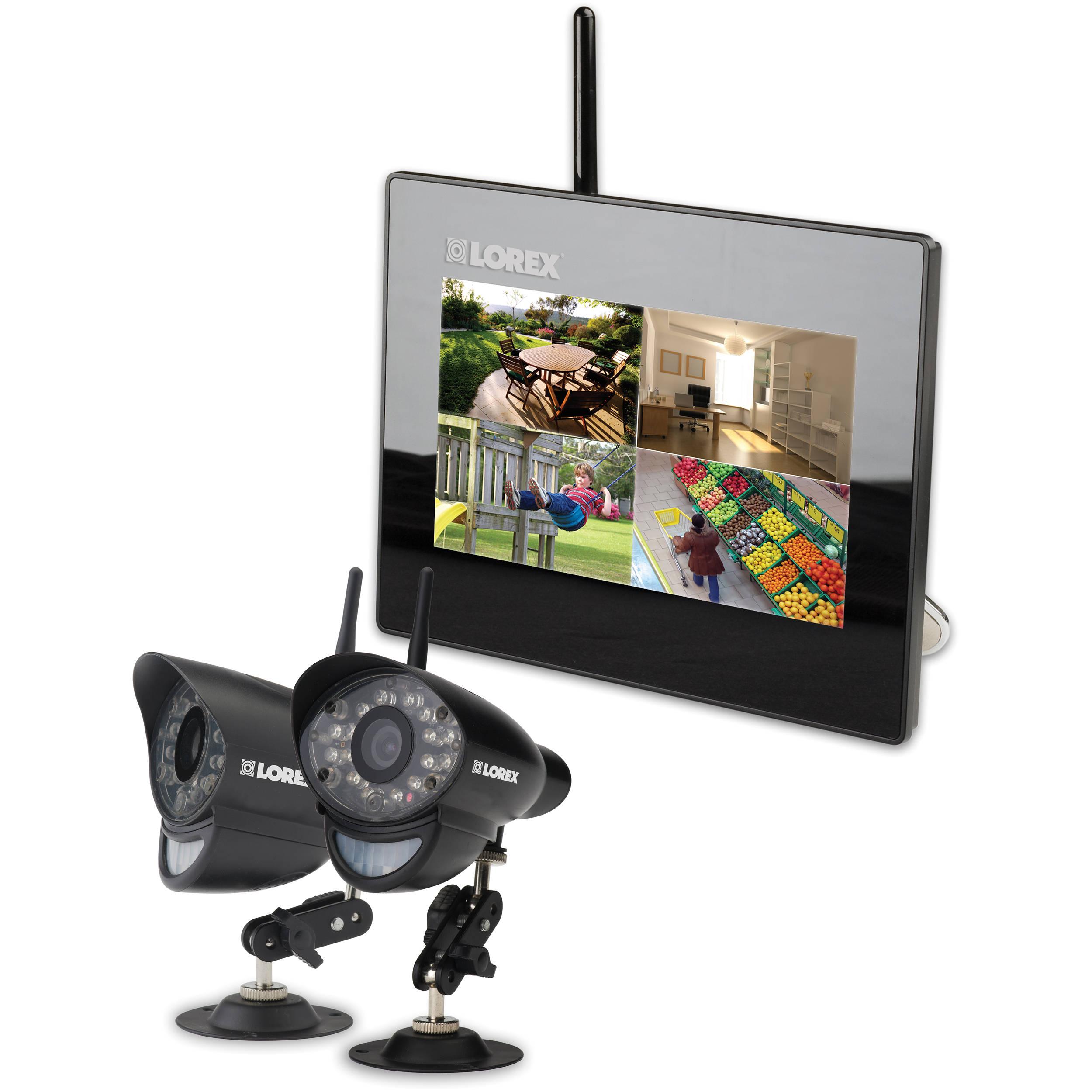Lorex Lw292 Wireless System With Sd Dvr Lw292 B Amp H Photo Video