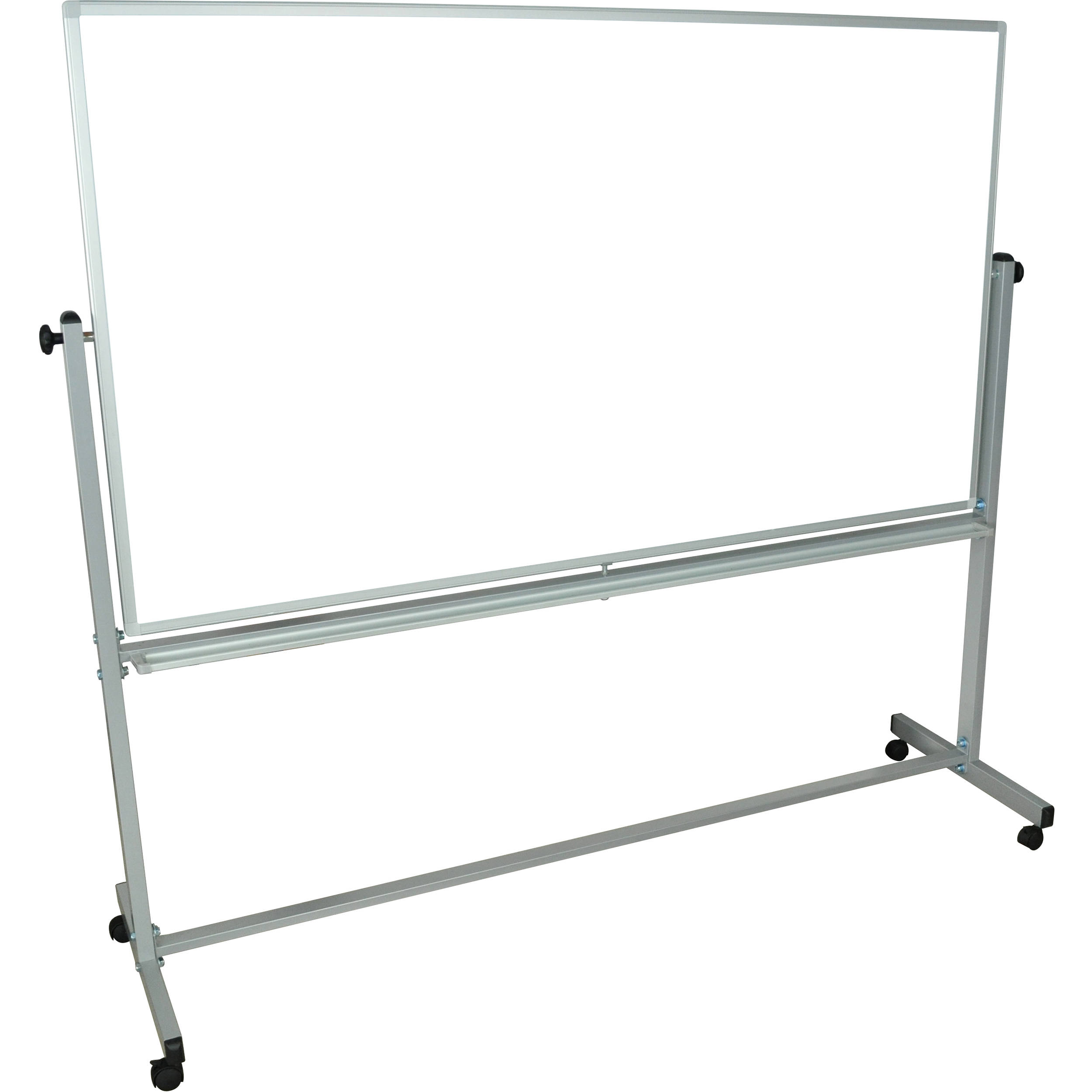 luxor mb7240ww mobile magnetic reversible whiteboard mb7240ww