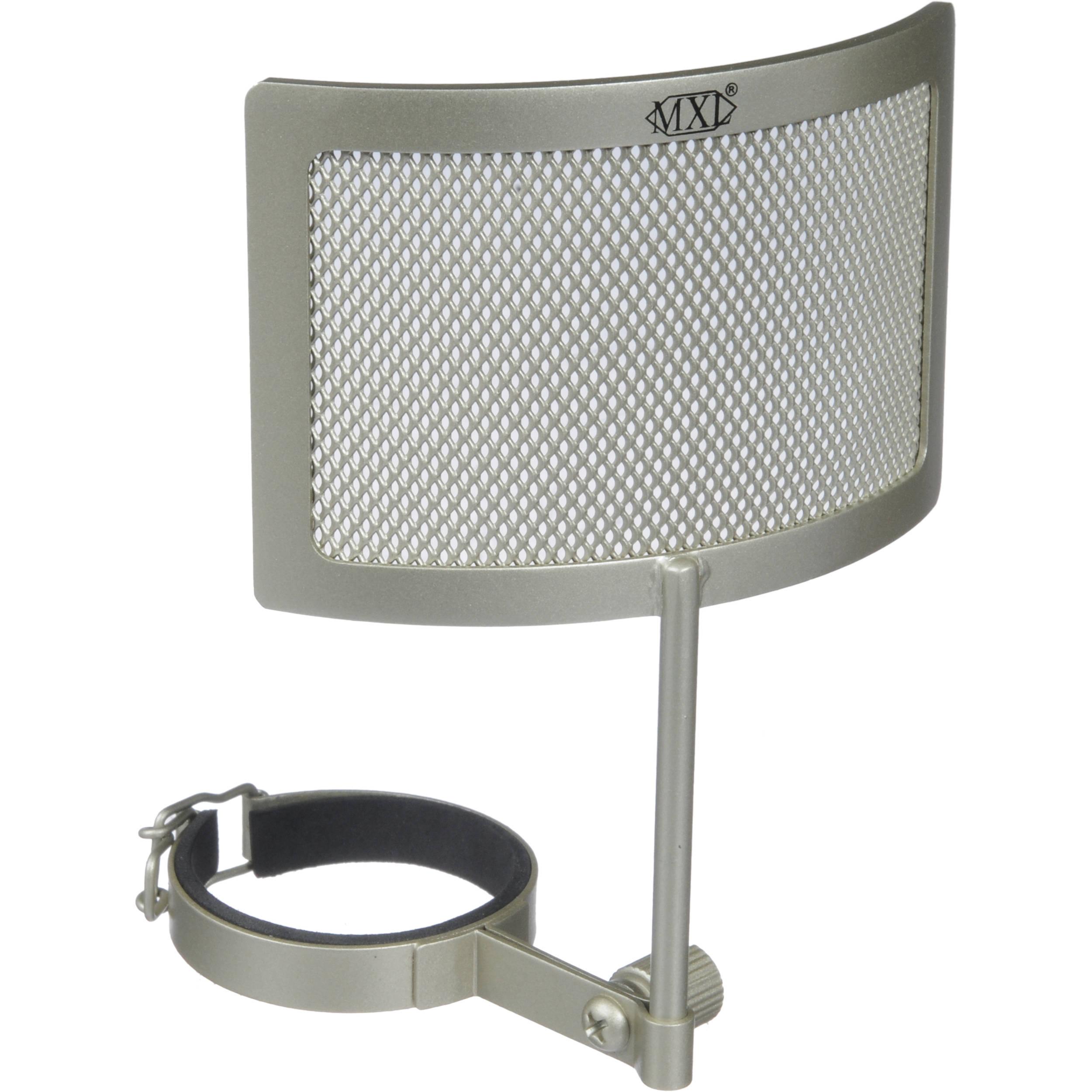 mxl pf 005 c metal mesh pop filter champagne pf 005 c b h. Black Bedroom Furniture Sets. Home Design Ideas