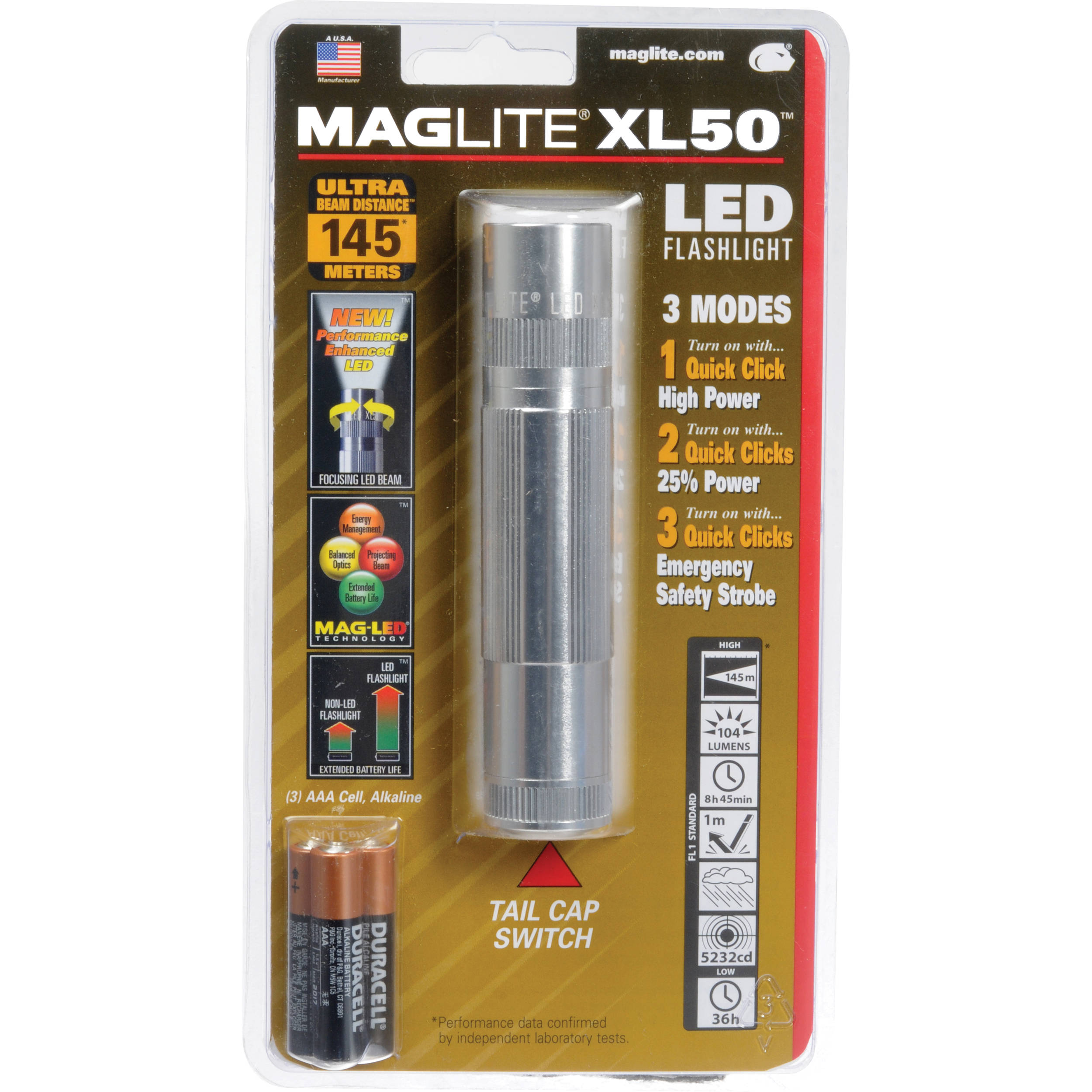Maglite XL50 LED Flashlight XL50-S3106 B&H Photo Video