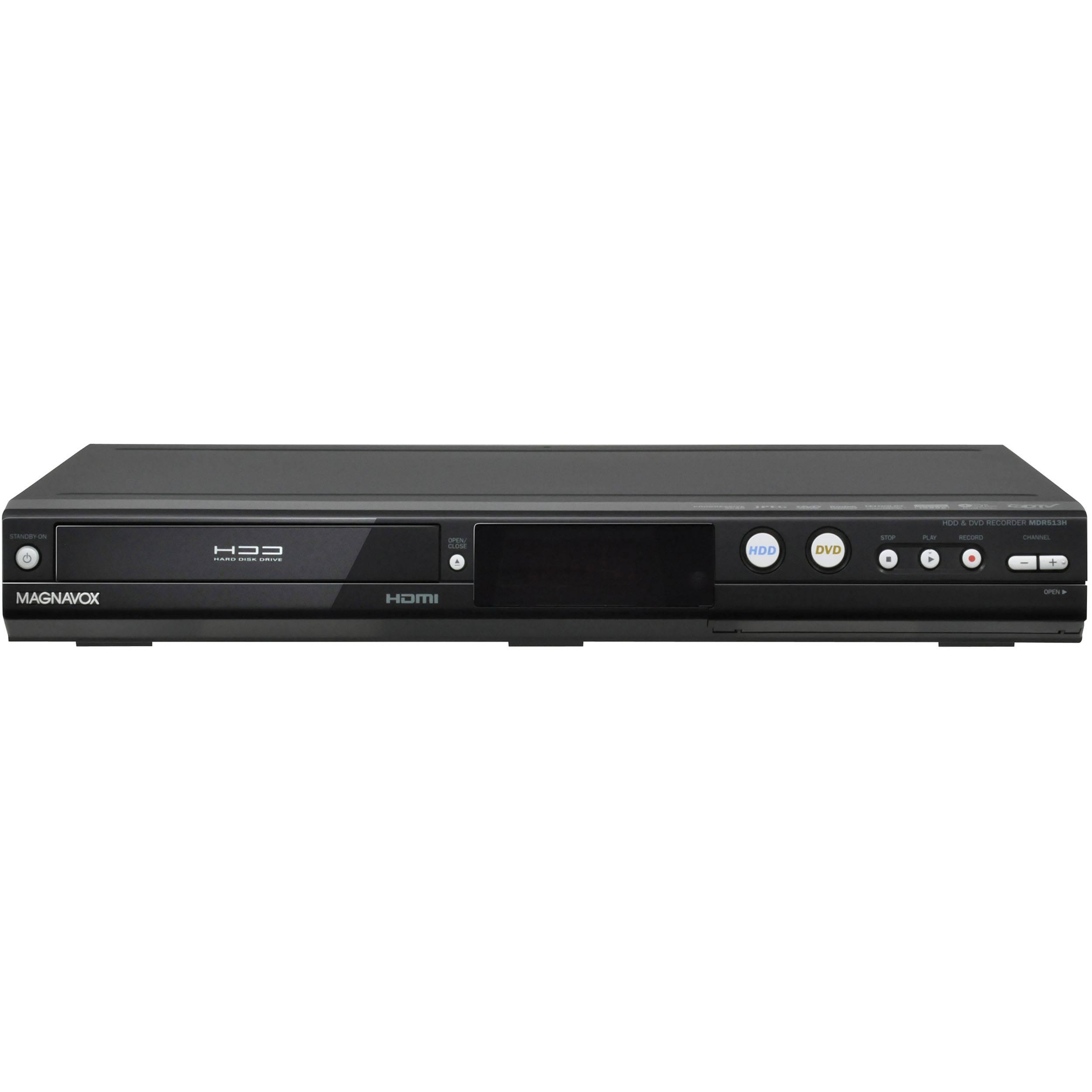 magnavox mdr513h f7 hdd dvd recorder mdr513h f7 b h photo rh bhphotovideo com magnavox mdr515h manual Magnavox DVD Manual