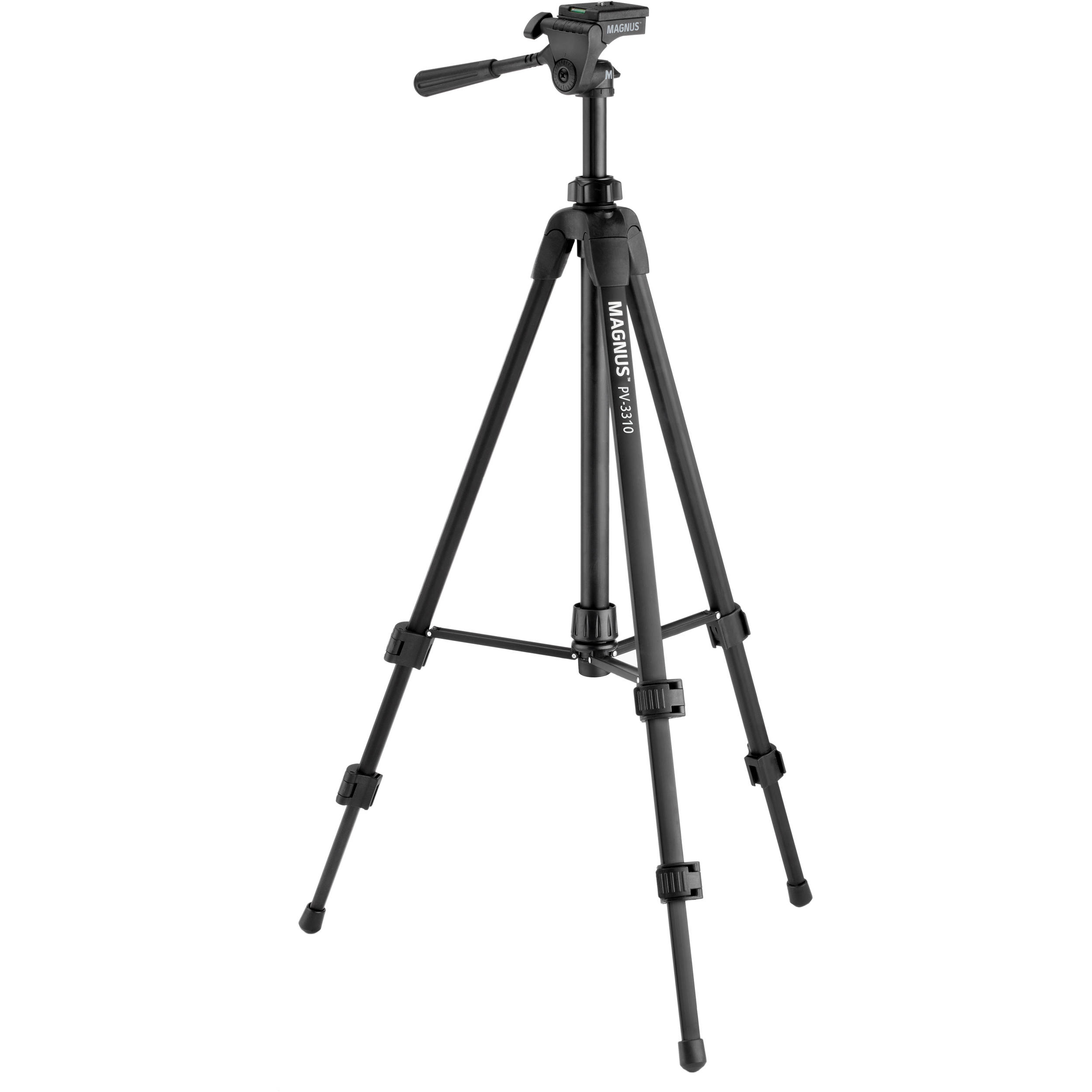 Magnus PV-3310 Photo Tripod With 3-Way Pan and Tilt Head PV-3310