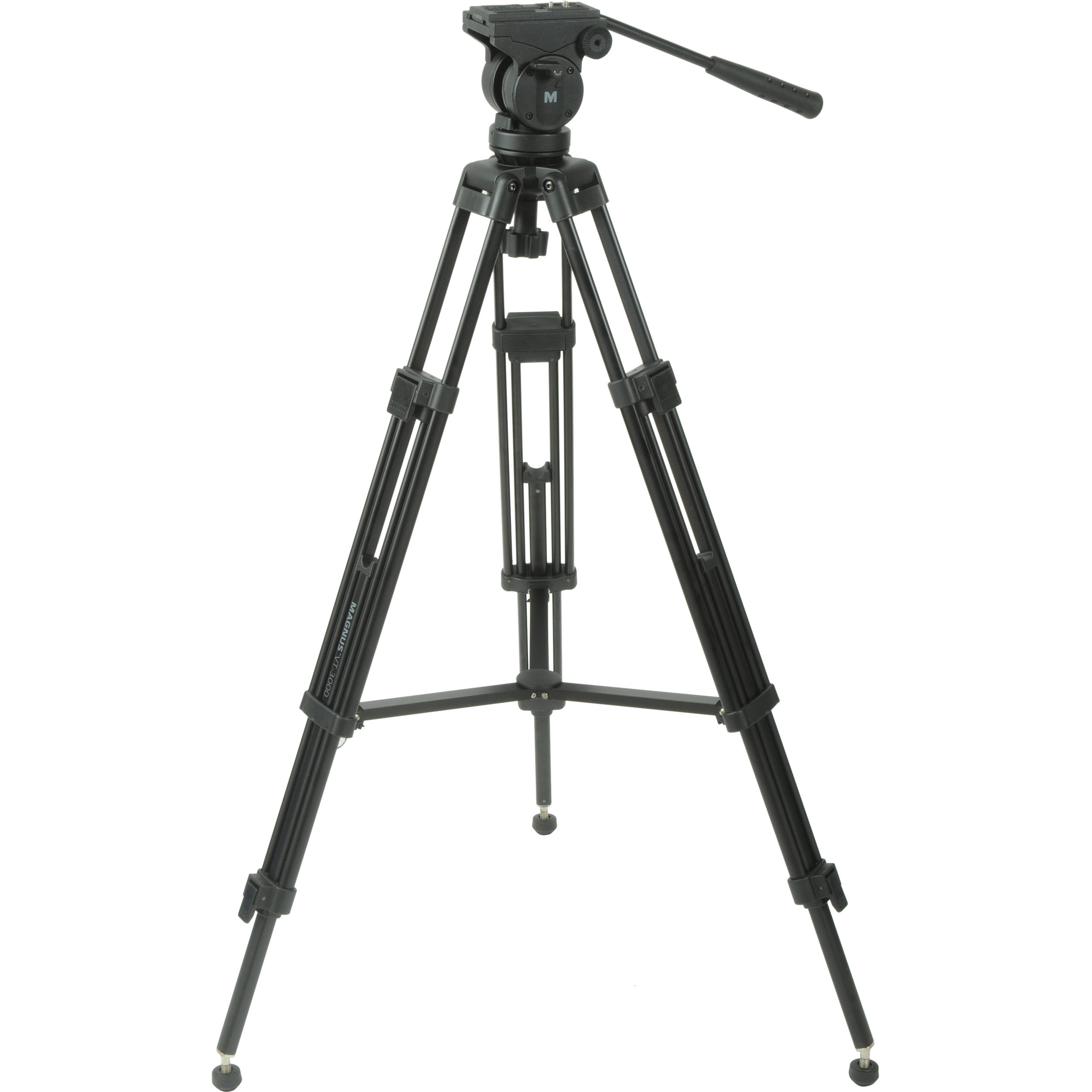 Magnus VT-3000 Tripod System with Fluid Head VT-3000 B&H Photo