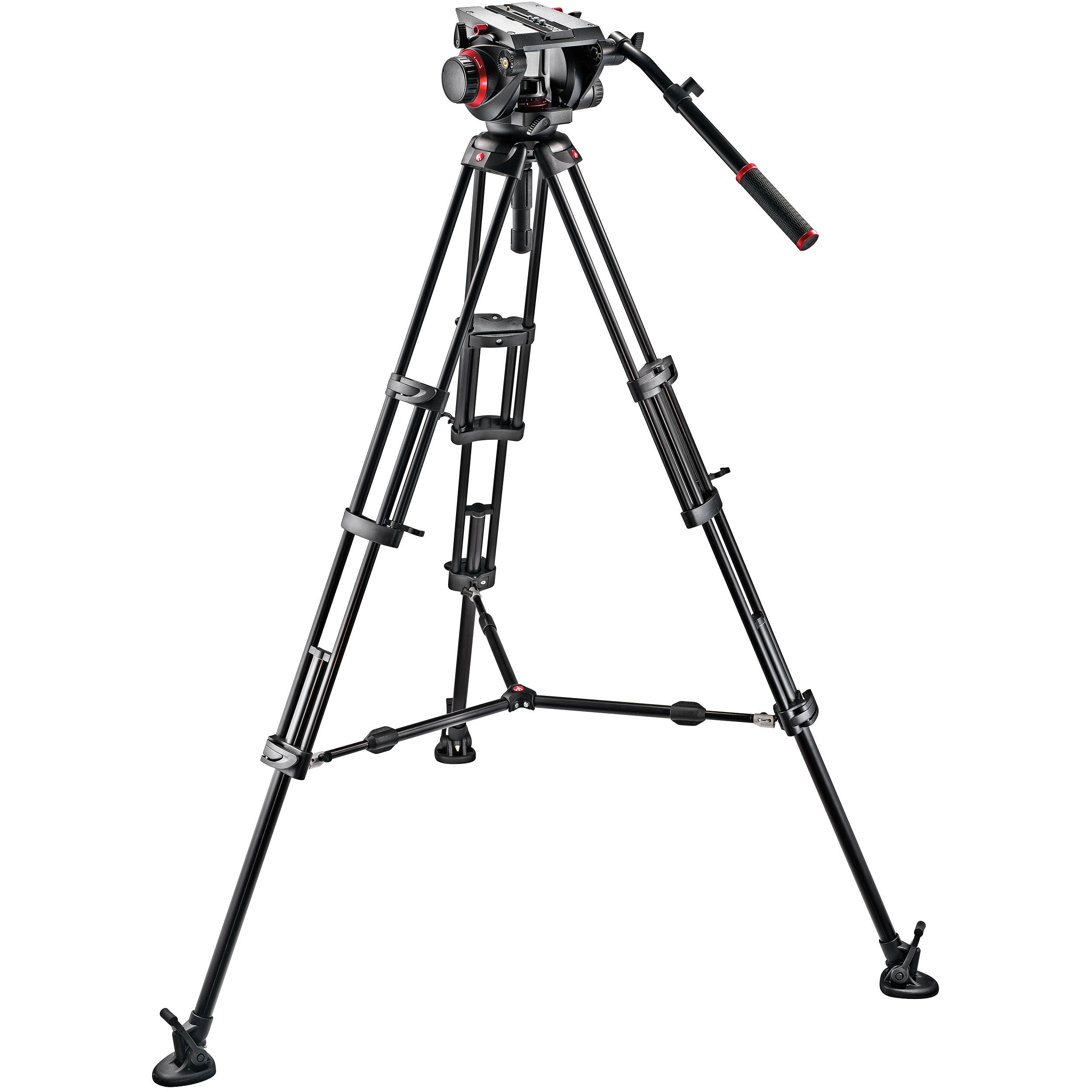 Manfrotto 509hd Video Head 545b Aluminum 509hd545bk Bh Fender Precision B Wiring Diagram Tripod Pro Middle Twin Kit 100