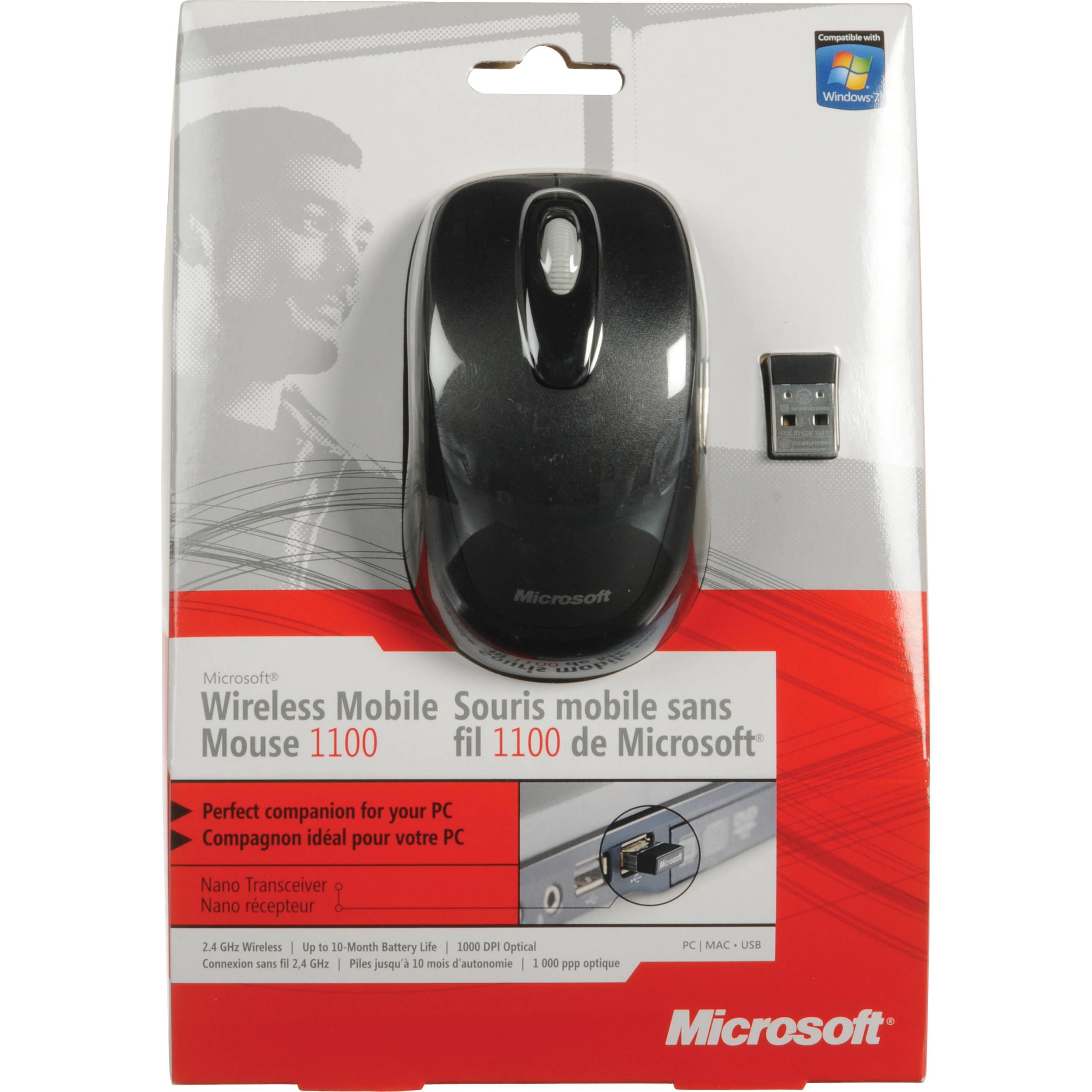e00f47ff2bc Microsoft Wireless Mobile Mouse 1000 2CF-00008 B&H Photo Video