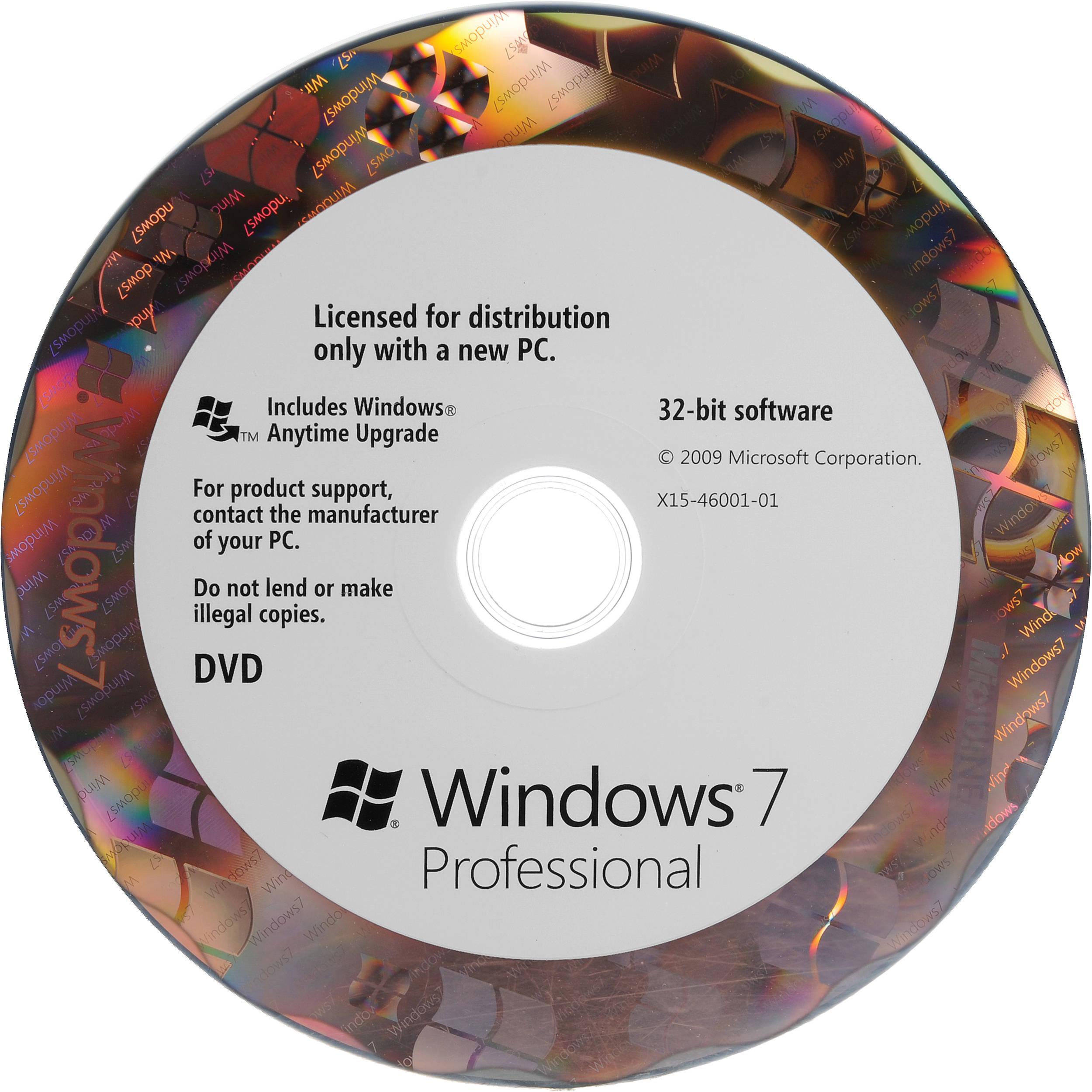 windows 7 pro operating software