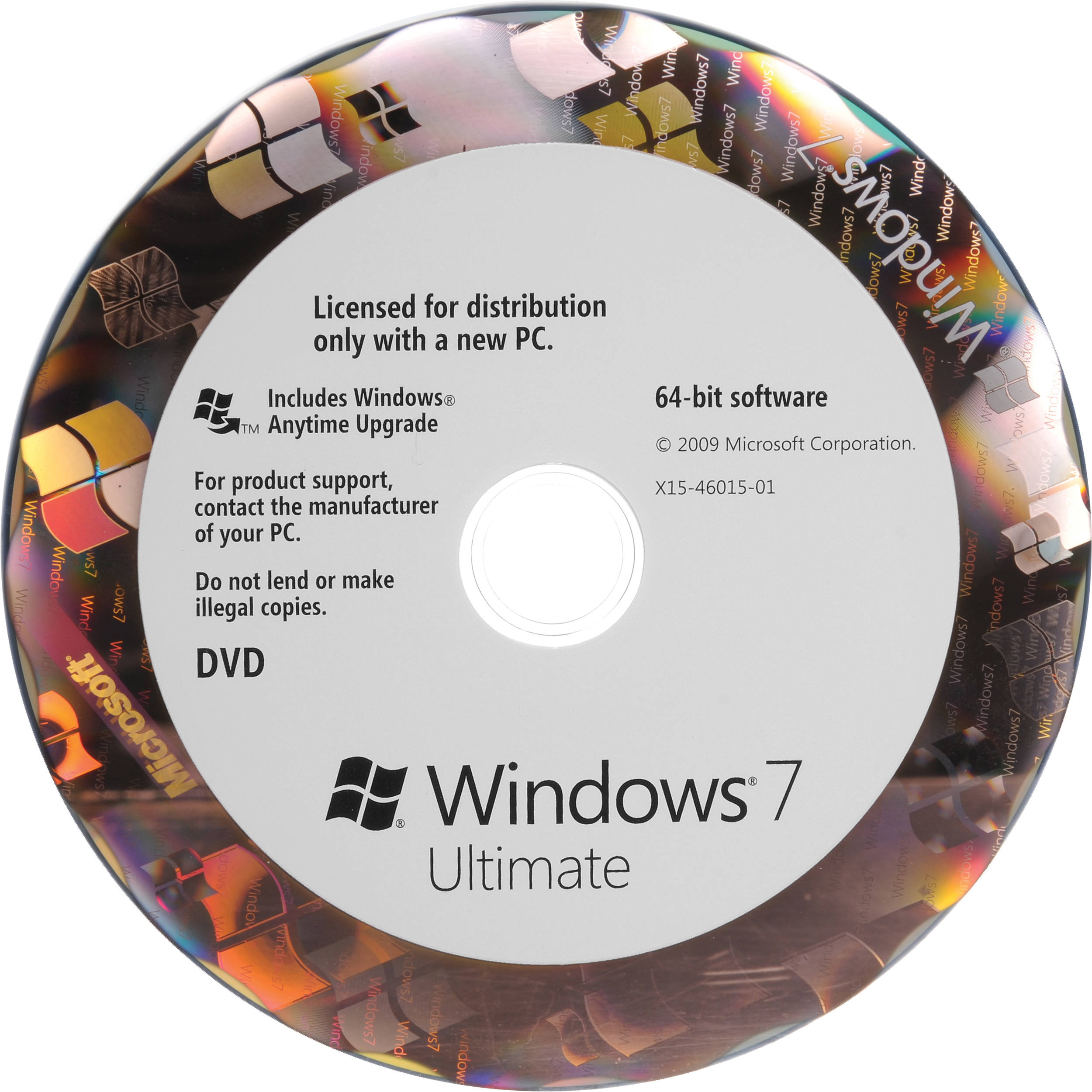 Microsoft Windows 7 Ultimate (64-bit) (OEM) GLC-00736 B&H Photo
