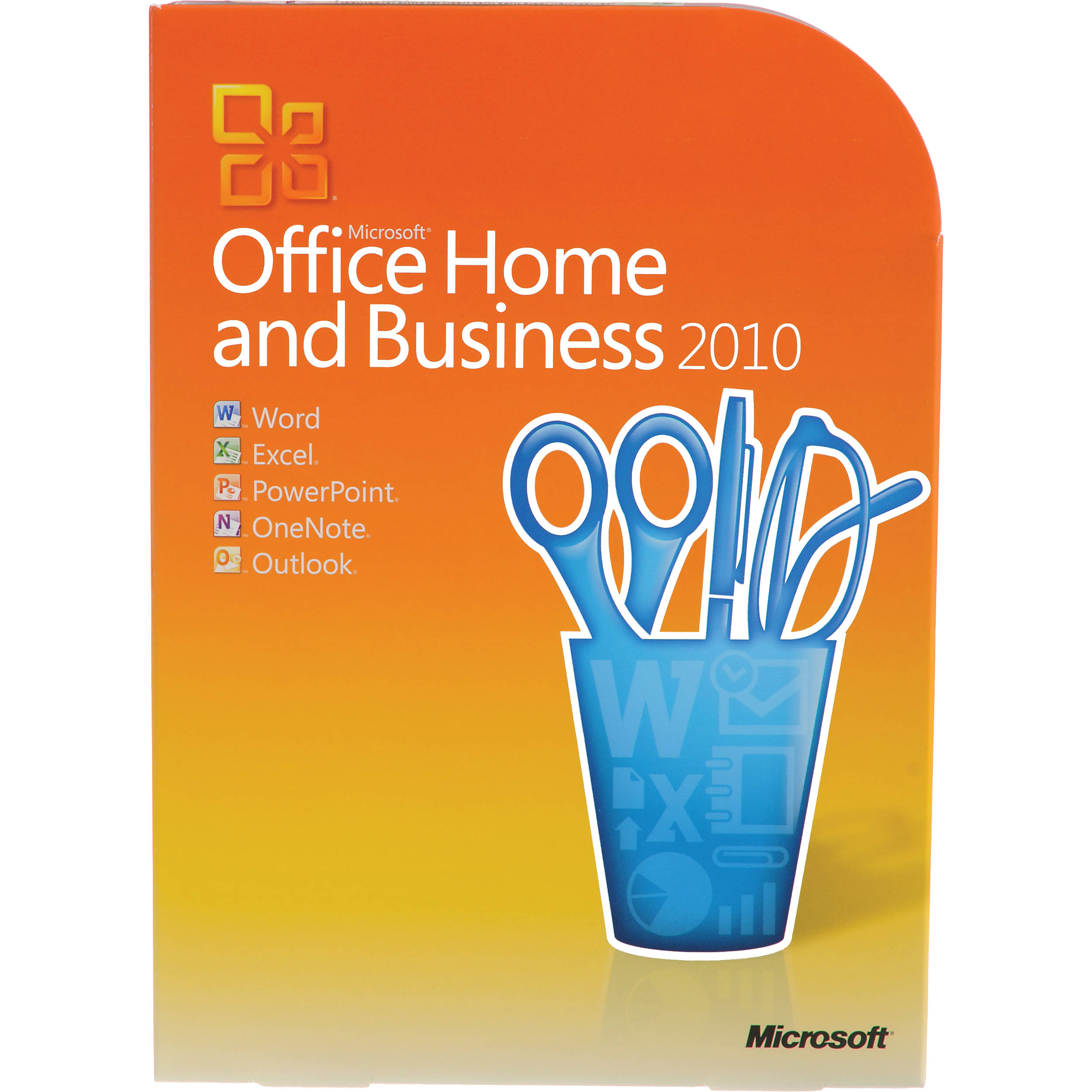 microsoft office home and business 2010 software t5d 00417 b h. Black Bedroom Furniture Sets. Home Design Ideas