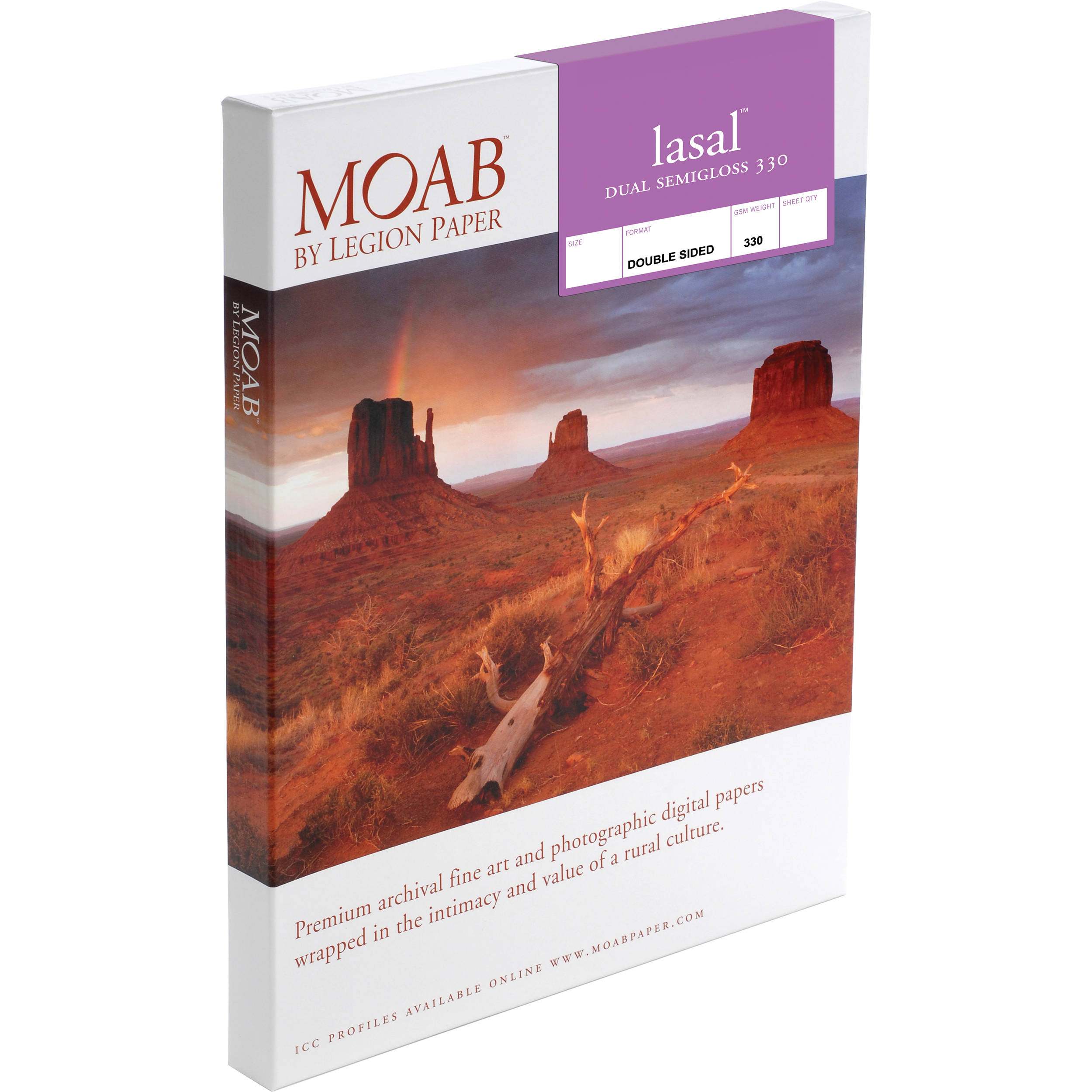 Moab Lasal Dual Semigloss 330 Paper F01 Lsd330851125 Bh Photo