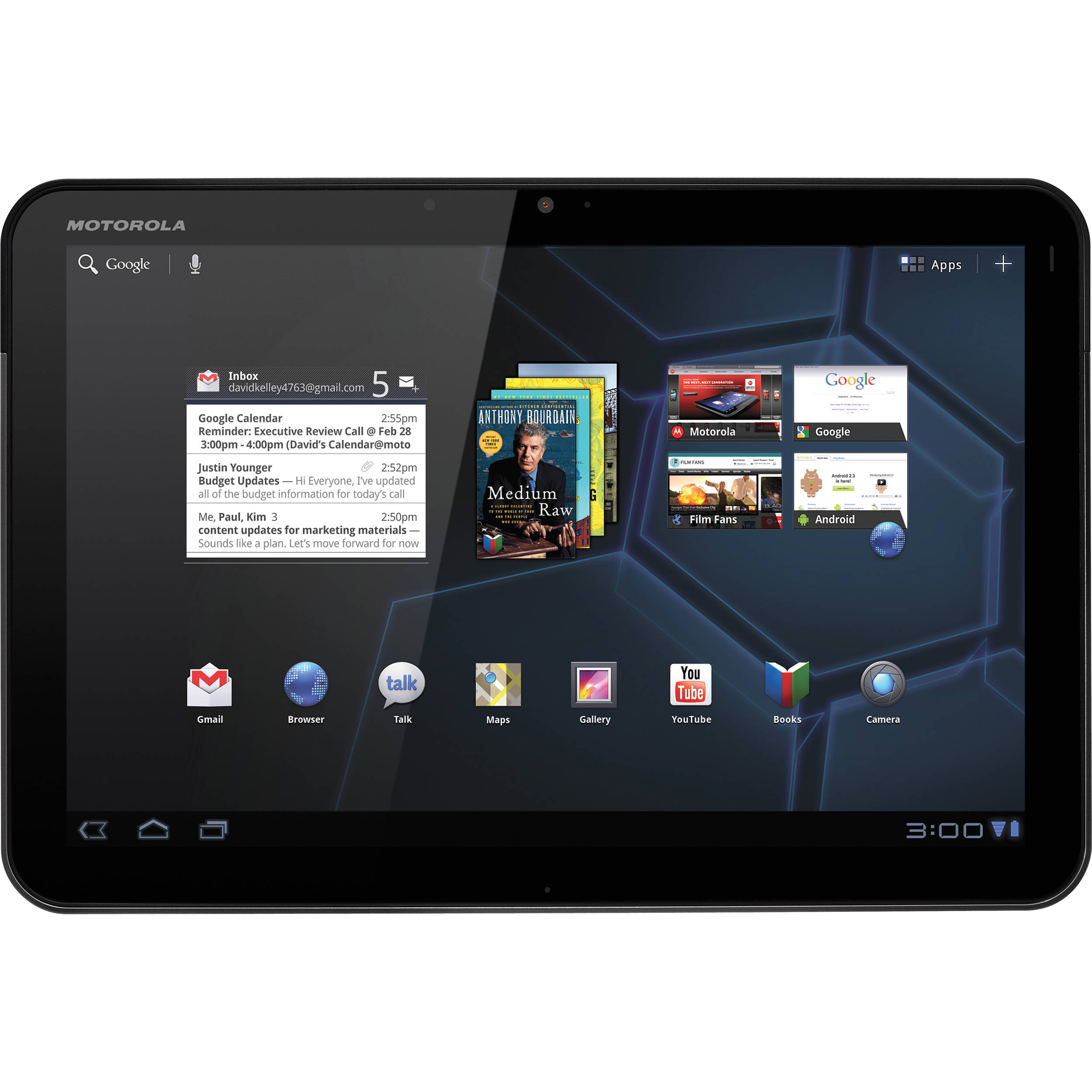 Motorola Xoom Wi Fi 10 1 Quot Tablet 00001nargnlx B Amp H Photo