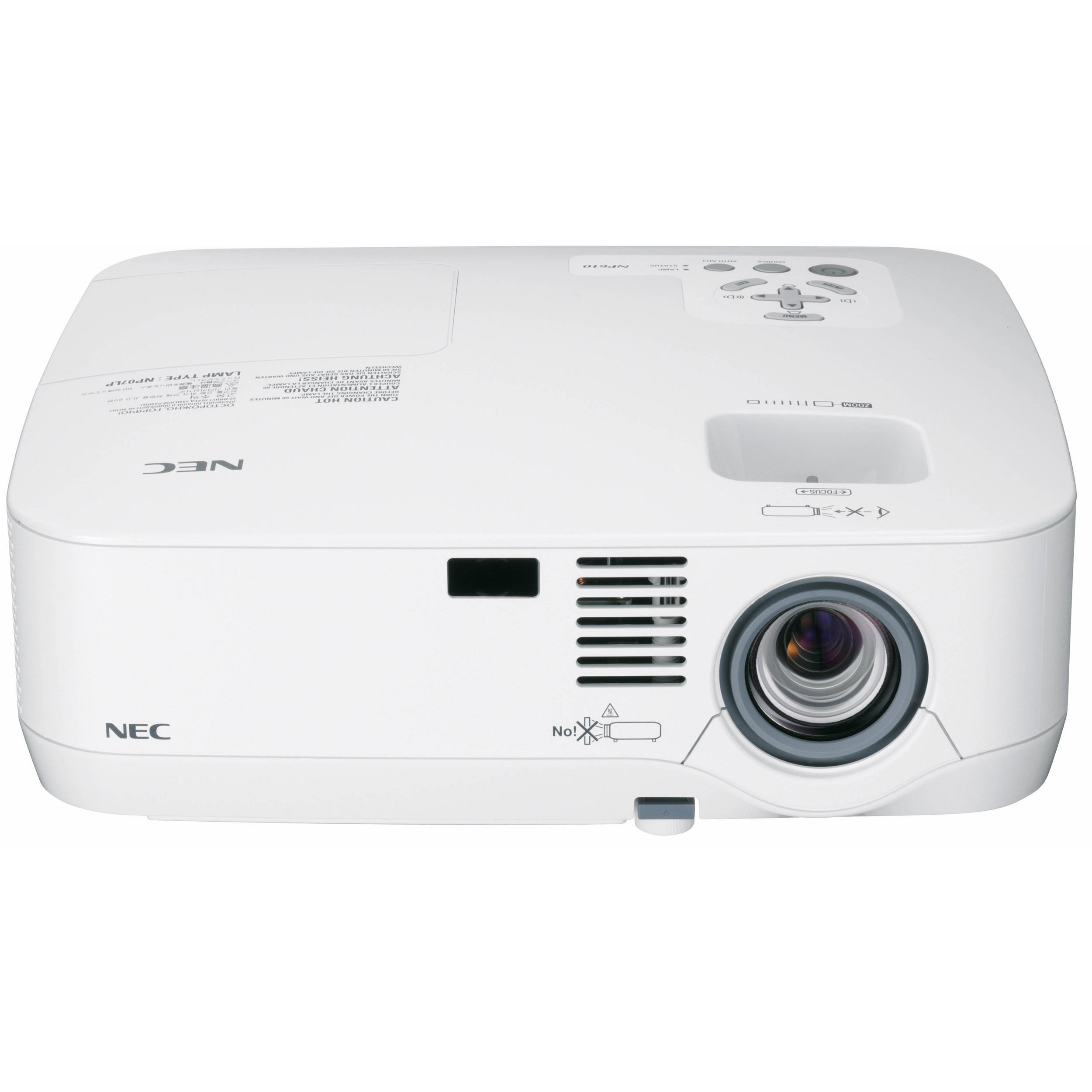 Nec np410w portable projector np410w b h photo video for Portable video projector