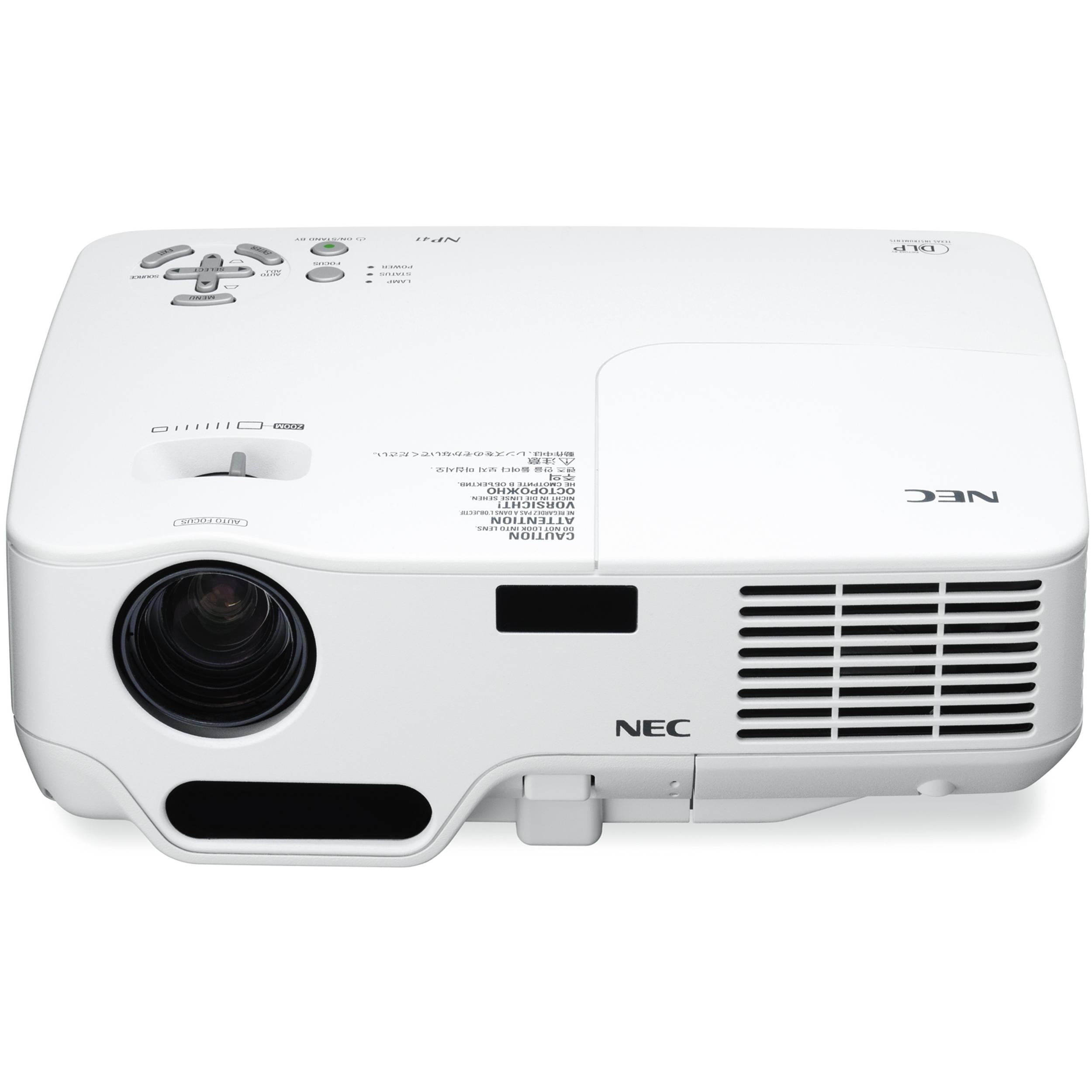 nec np41 dlp xga 2300 lumens projector np41 b h photo video rh bhphotovideo com nec projector np115 user manual nec np1000 projector user manual