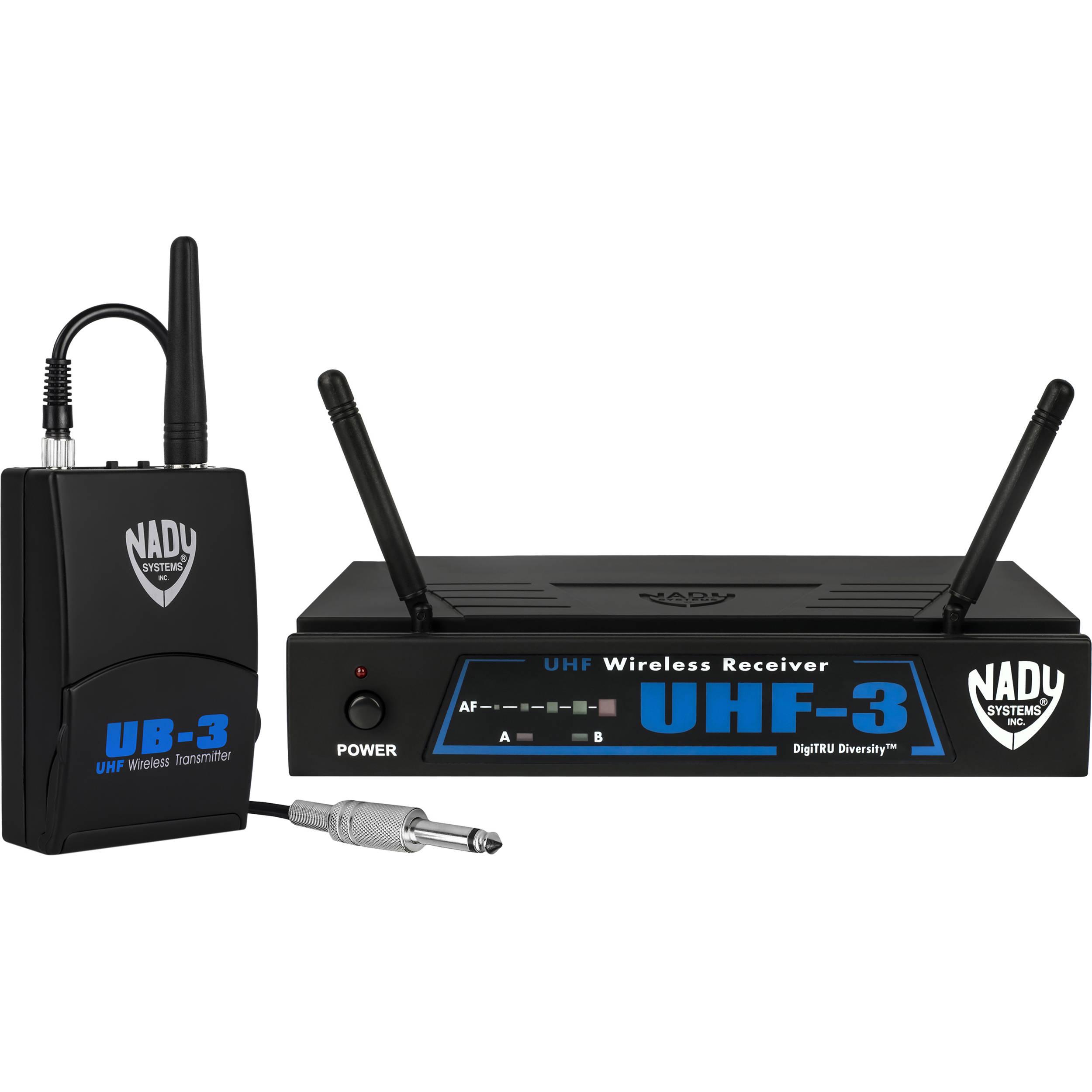 Uhf Wireless Guitar System Trusted Wiring Diagram Airline Nady 3 Diversity Gt Mu6 Bh Samson 77