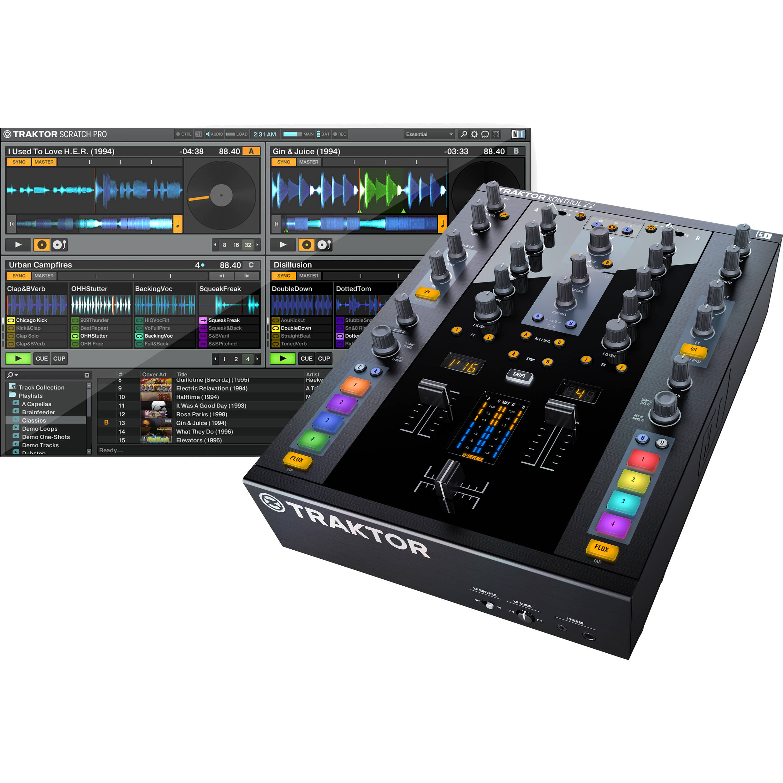 Native Instruments Traktor Kontrol Z2 2 2 Channel 22210 B Amp H